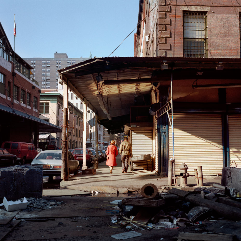 JANET DELANEY South Street at Beekman, 1984 from New York City 1984-1987 Archival Pigment Print 15 x 15 inches, edition of 5 24 x 24 inches, edition of 2