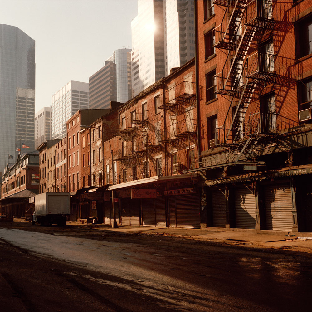 JANET DELANEY South Street, 1984 from New York City 1984-1987 Archival Pigment Print 15 x 15 inches, edition of 5 24 x 24 inches, edition of 2