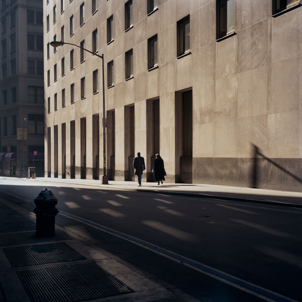 JANET DELANEY Wall Street, 1984 from New York City 1984-1987 Archival Pigment Print 15 x 15 inches, edition of 5 24 x 24 inches, edition of 2