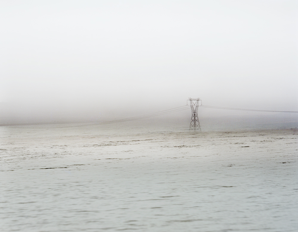 ANSLEY WEST RIVERS  Power Lines, Columbia River, WA, 2015  Archival Pigment Print  Available sizes 24 x 30 inches, edition of 7 40 x 50 inches, edition of 7