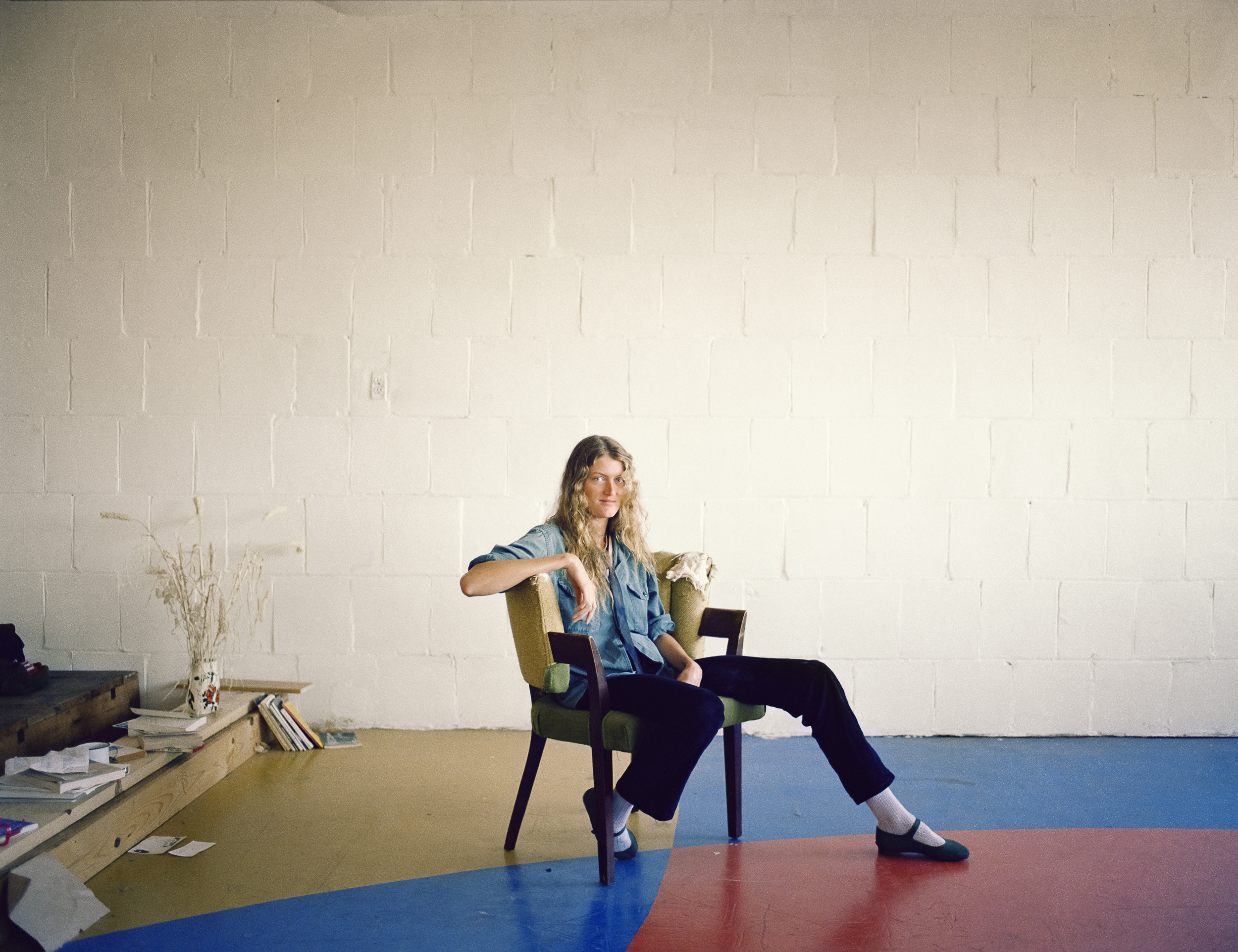 Chamys Crane in her studio, Project One, 10th at Howard Street, 1980 Archival Pigment Print, 2016 16 x 20 inches, edition of 5 20 x 24 inches, edition of 2 30 x 40 inches, edition of 2