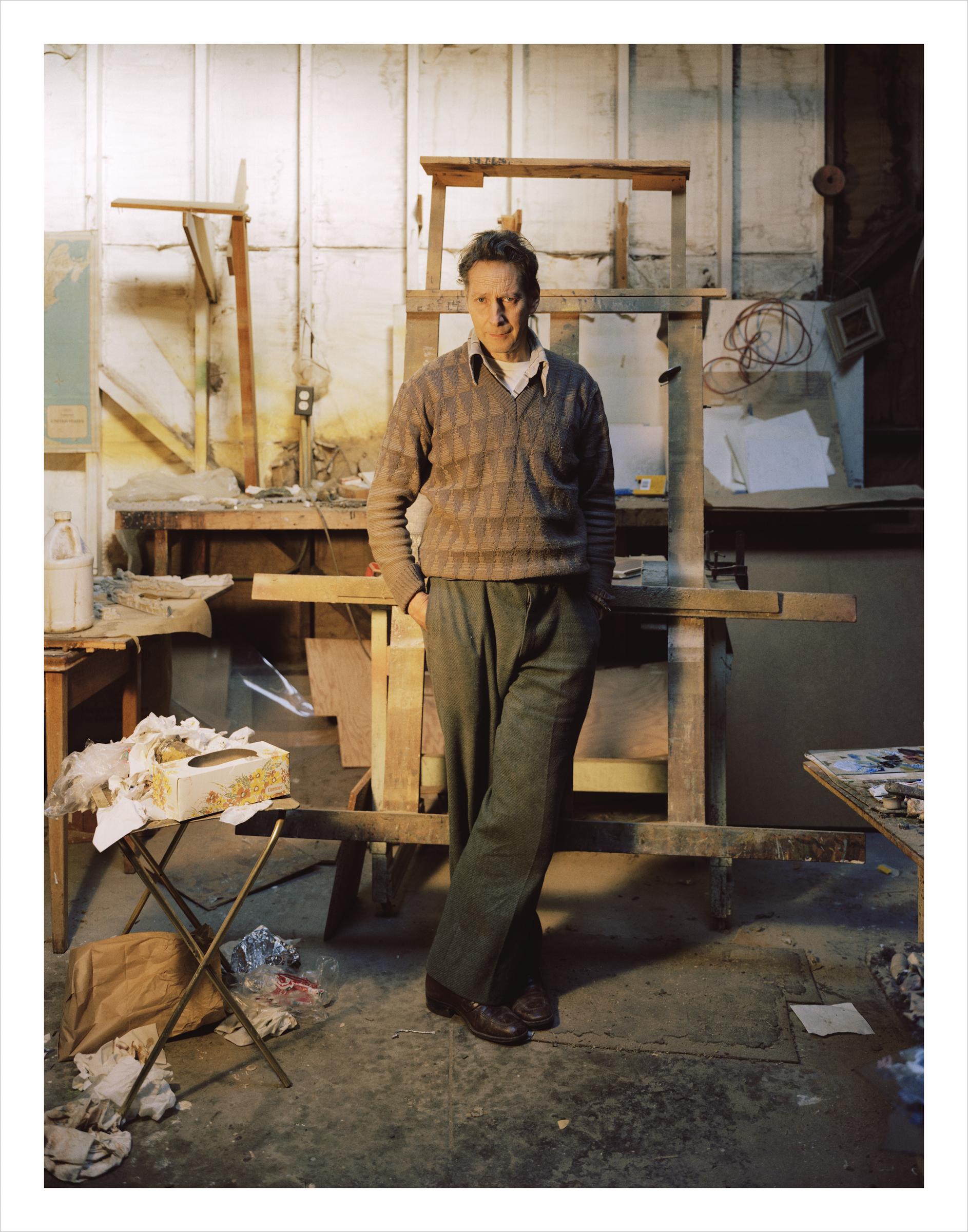 Chilean artist Ivan Garcia in his studio, 73 Langton Street Archival Pigment Print, 2016 16 x 20 inches, edition of 5 20 x 24 inches, edition of 2 30 x 40 inches, edition of 2