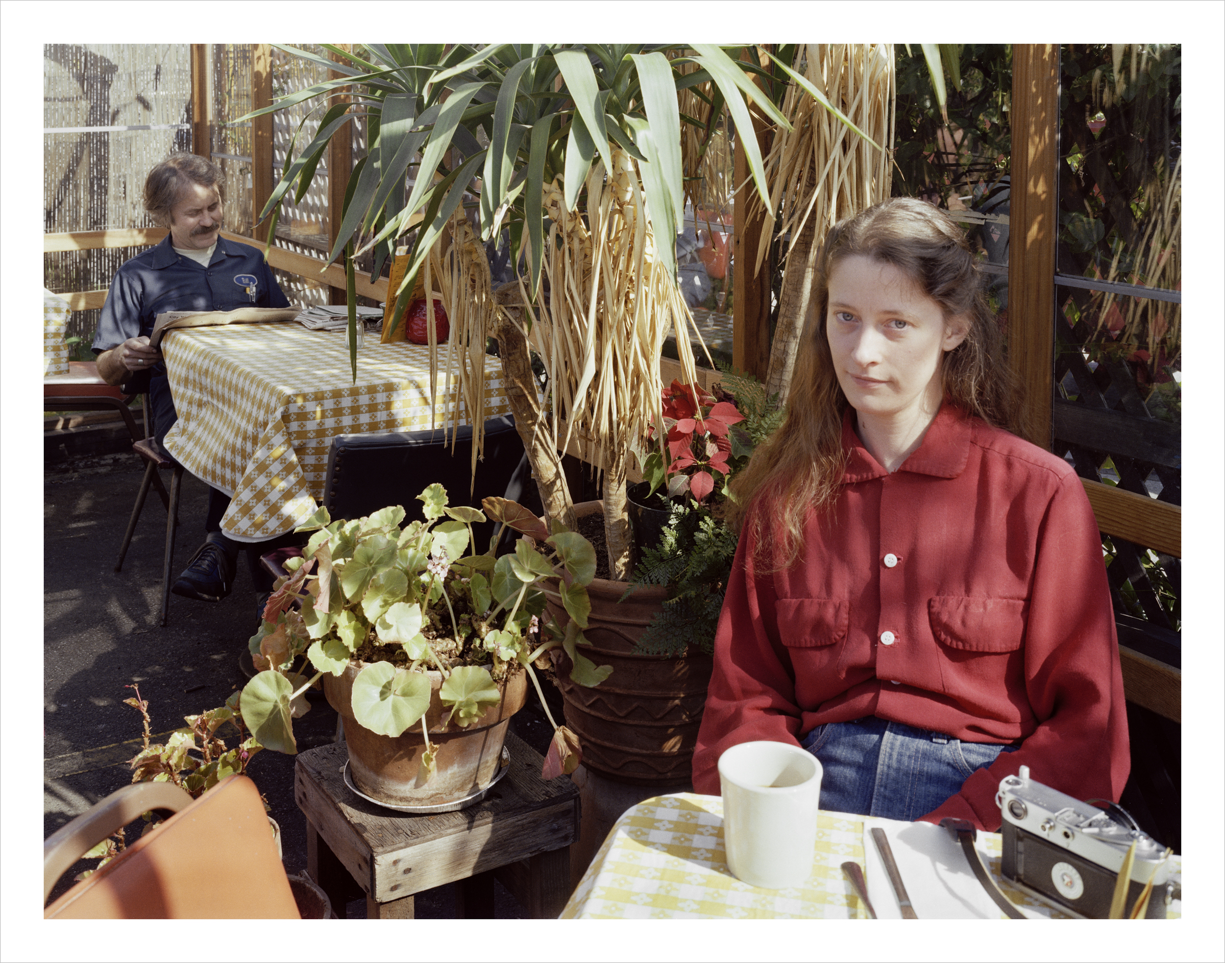 JANET DELANEY Connie Hatch at the Canary Island Diner, 1207 Harrison Street, 1982 Archival Pigment Print, 2016 16 x 20 inches, edition of 5 20 x 24 inches, edition of 2 30 x 40 inches, edition of 2
