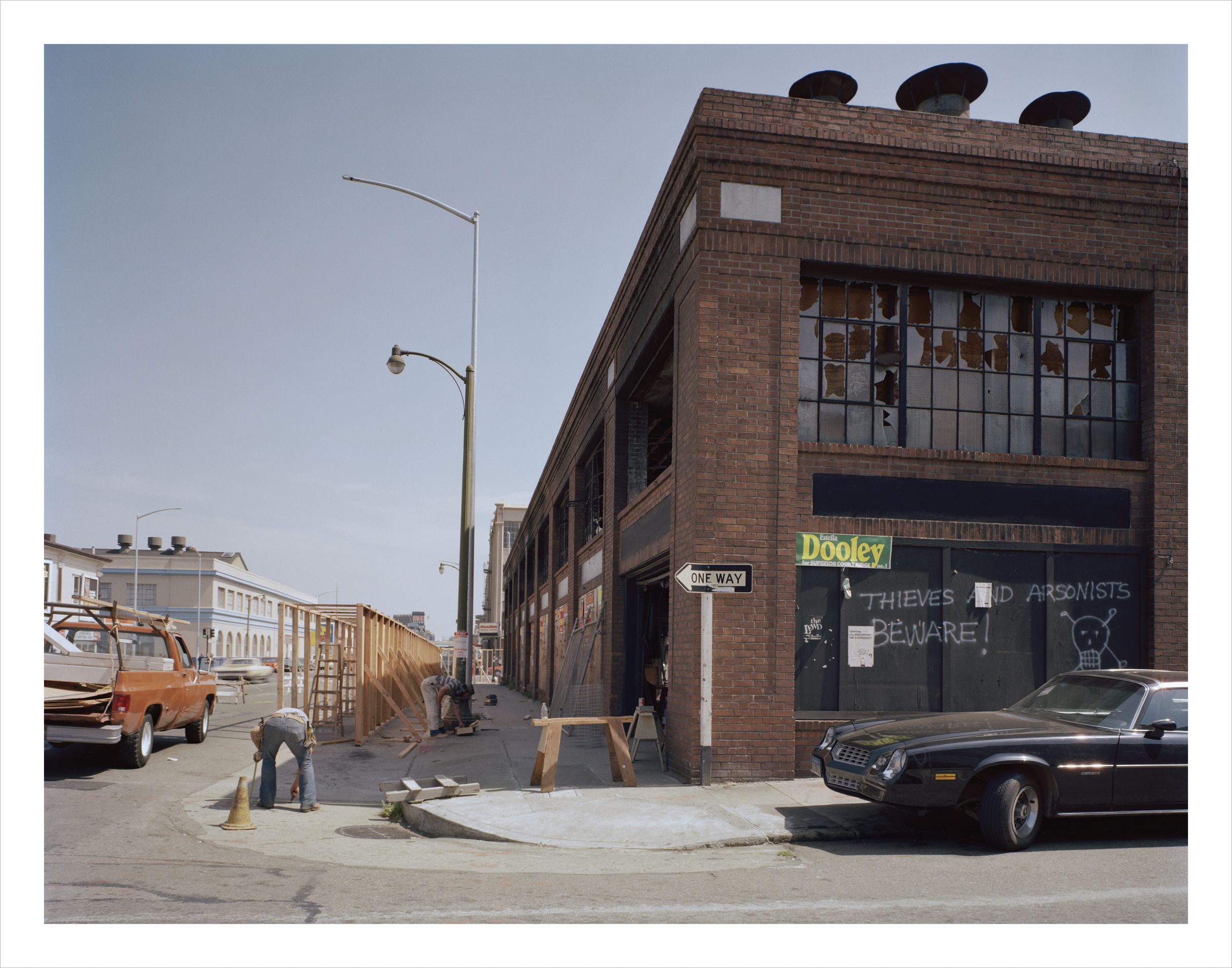 JANET DELANEY Folsom at 8th Street, 1980 Archival Pigment Print, 2016 16 x 20 inches, edition of 5 20 x 24 inches, edition of 2 30 x 40 inches, edition of 2
