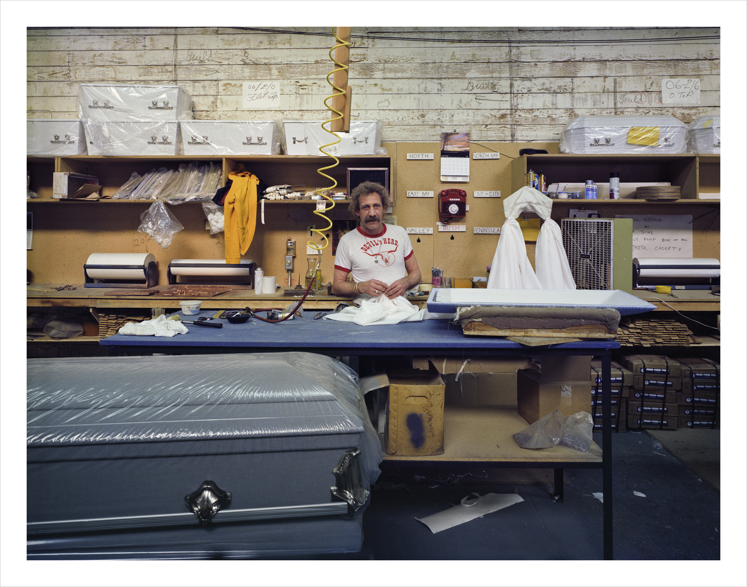 Harry Smith, Bay Casket Company, 1020 Folsom Street , 1980 Archival Pigment Print, 2016 16 x 20 inches, edition of 5 20 x 24 inches, edition of 2 30 x 40 inches, edition of 2