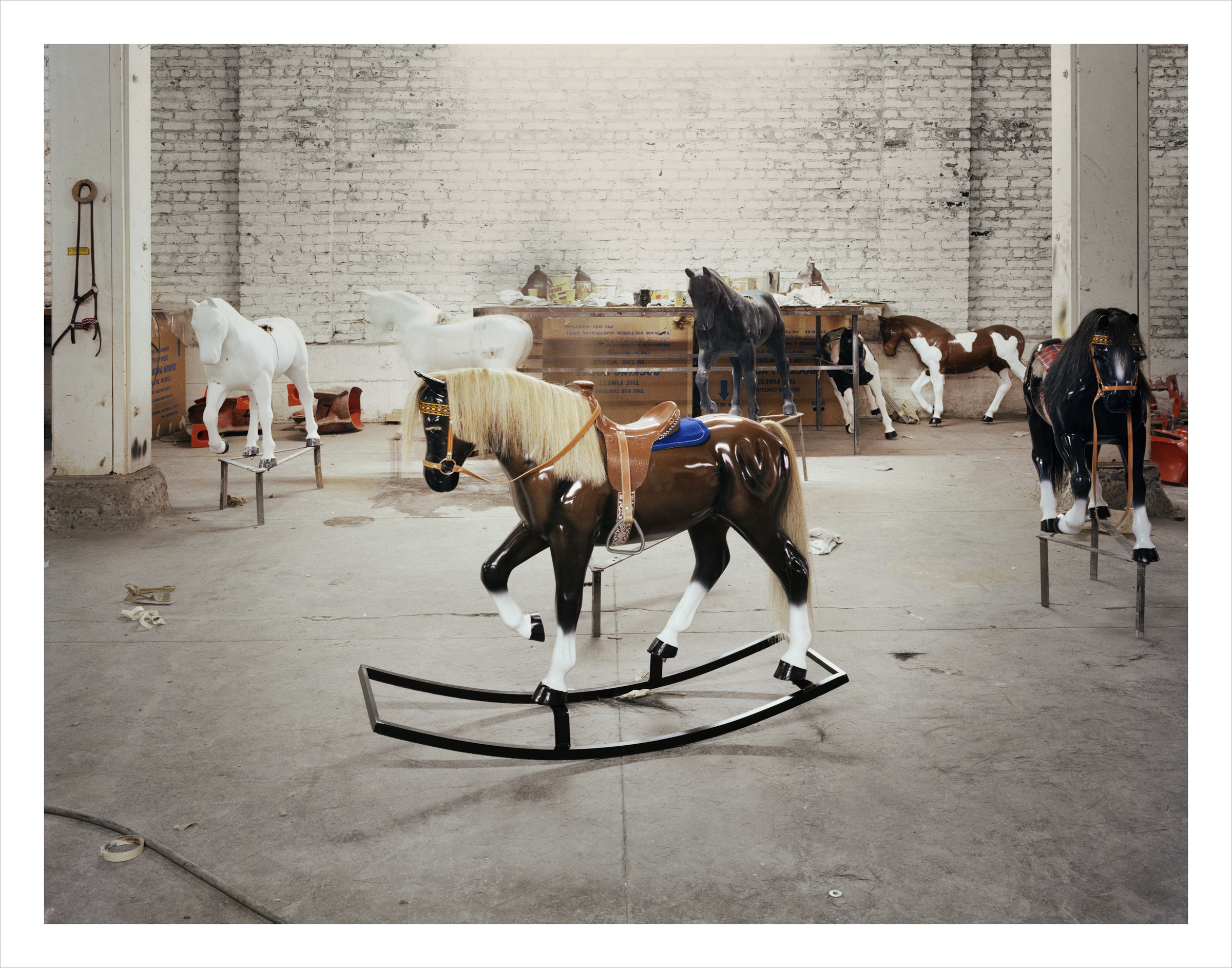 Hobby Horse Factory, Shipley Street, 1982 Archival Pigment Print, 2016 16 x 20 inches, edition of 5 20 x 24 inches, edition of 2 30 x 40 inches, edition of 2