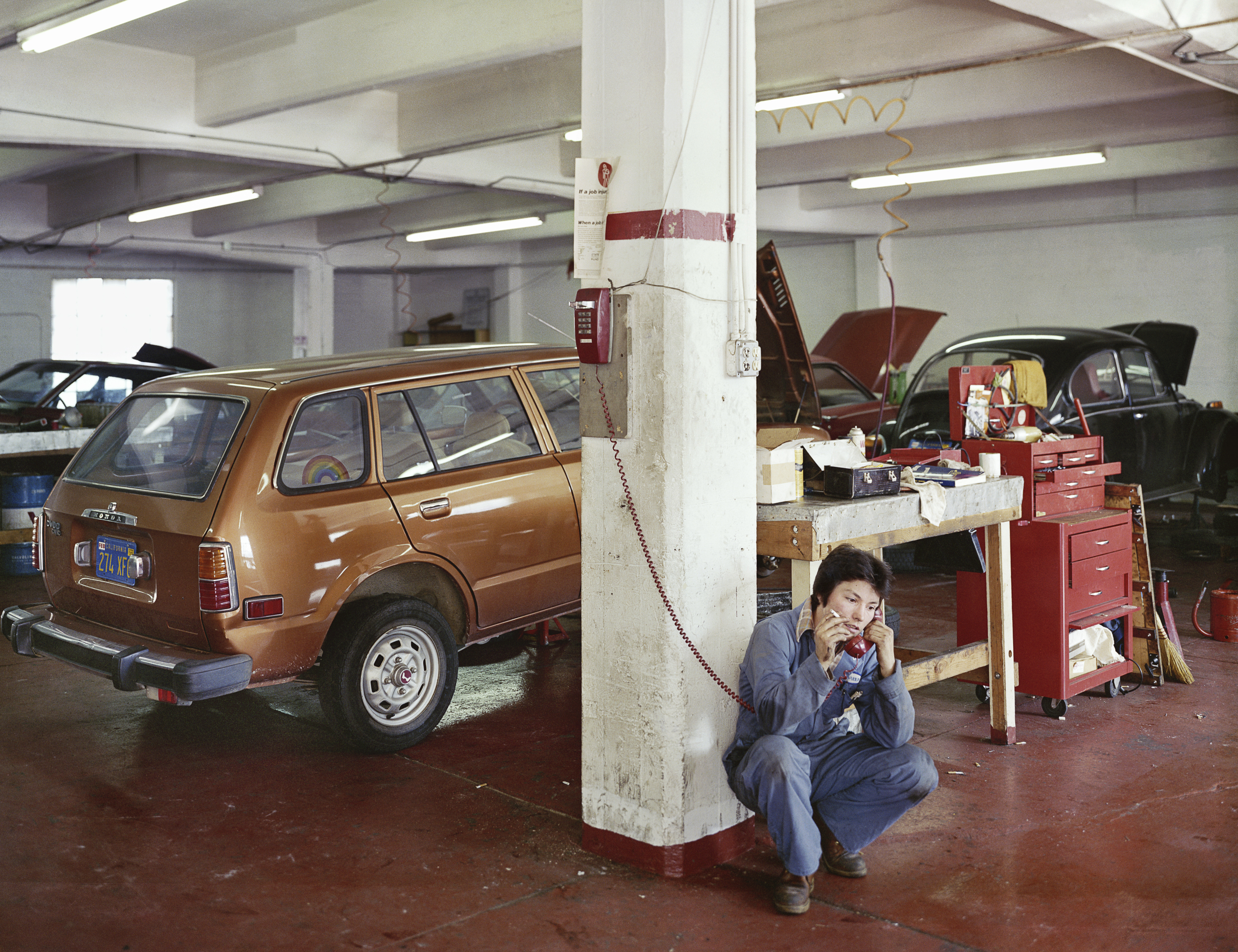 """Labyris Auto Repair, """"Complete Car Care By Women"""", 240 6th Street, 1982 Archival Pigment Print, 2016 16 x 20 inches, edition of 5 20 x 24 inches, edition of 2 30 x 40 inches, edition of 2"""