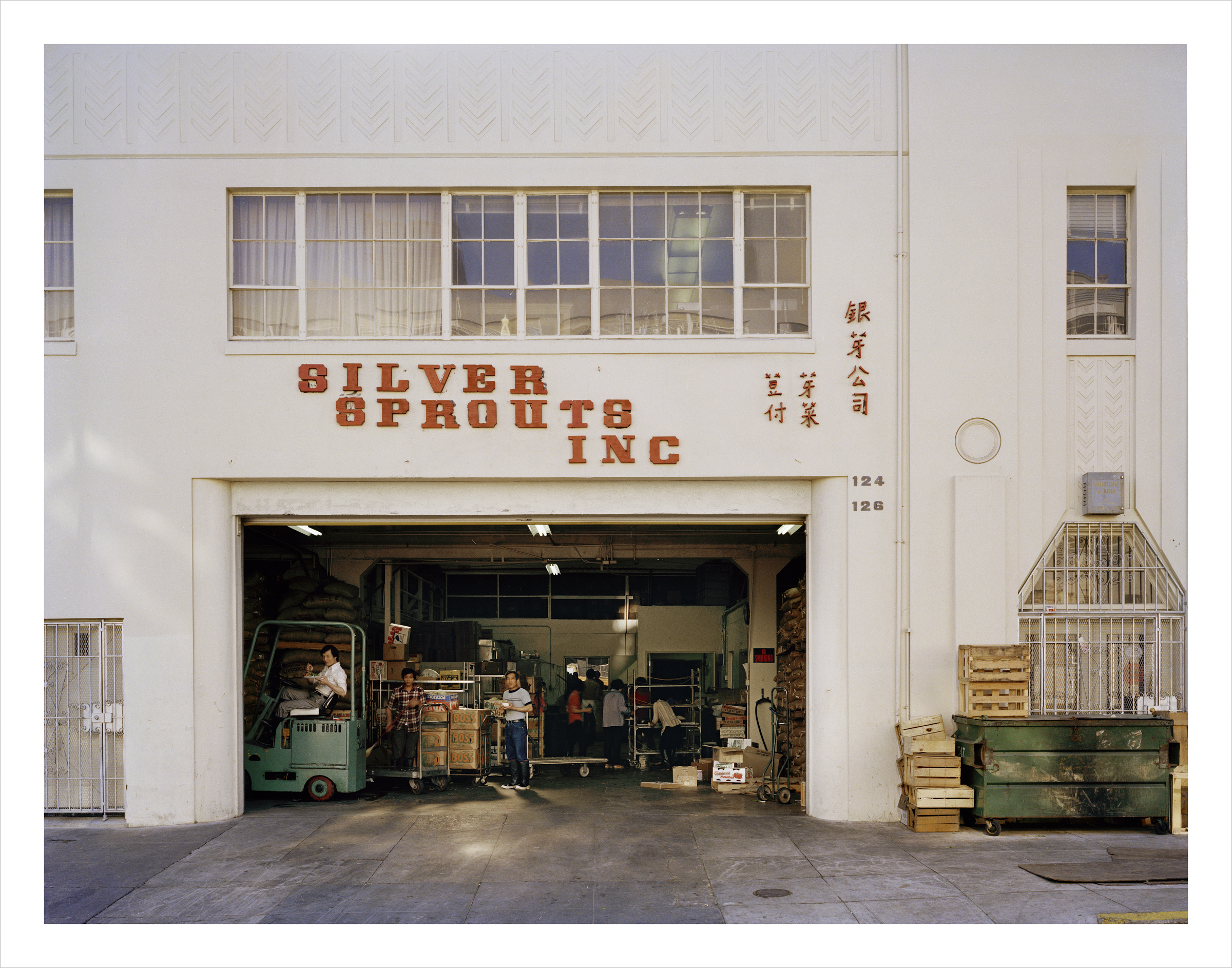 Lunch break, Silver Sprouts Inc, 124-126 Russ Street, 1980 Archival Pigment Print, 2016 16 x 20 inches, edition of 5 20 x 24 inches, edition of 2 30 x 40 inches, edition of 2