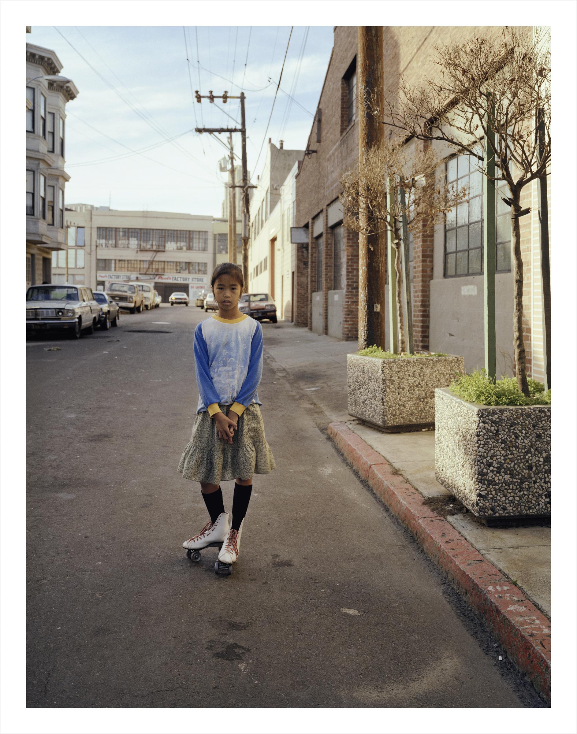 Marie on Skates, Langton Street, 1981 Archival Pigment Print, 2016 16 x 20 inches, edition of 5 20 x 24 inches, edition of 2 30 x 40 inches, edition of 2