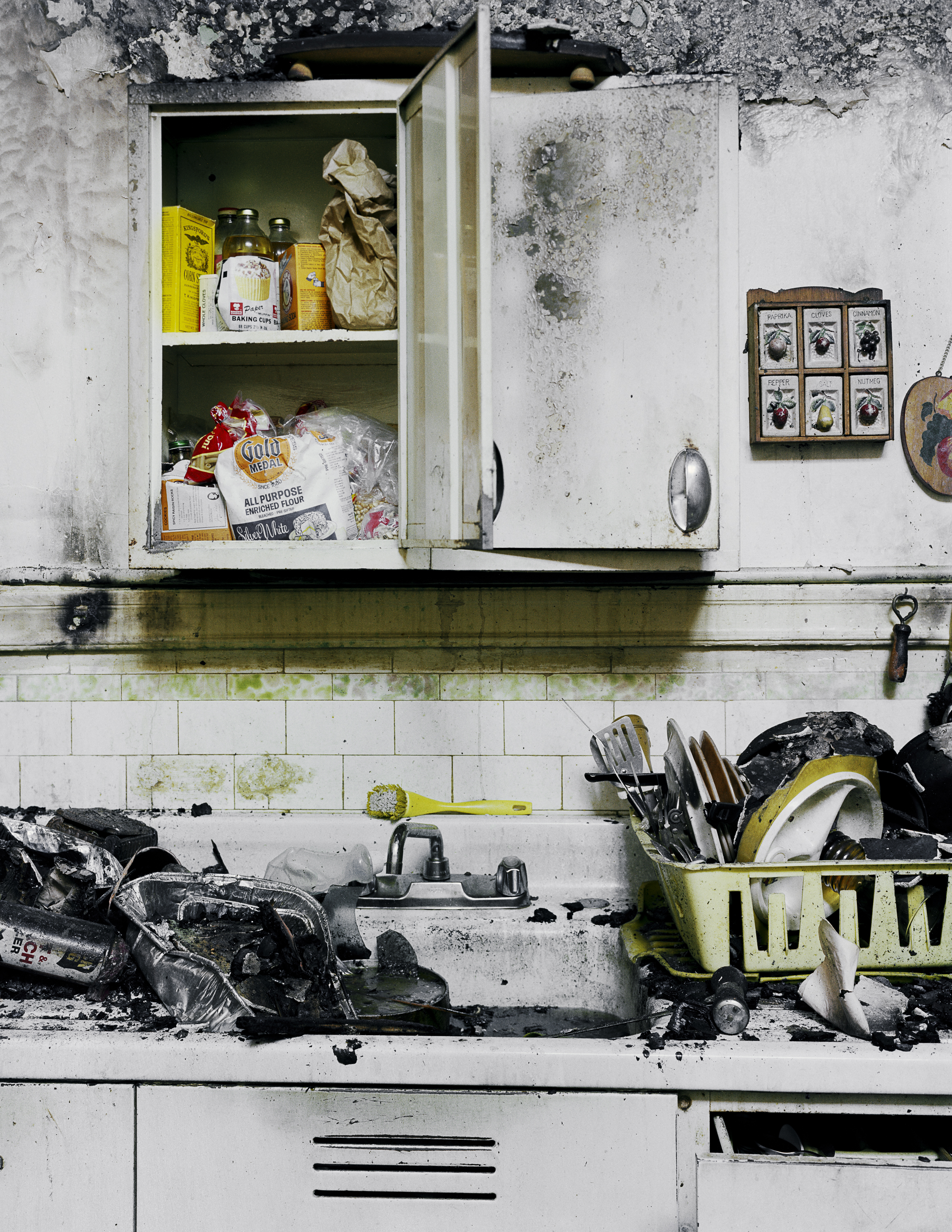 Mary Gardner's Kitchen after the five-alarm fire, Folsom Street, 1981 Archival Pigment Print, 2016 16 x 20 inches, edition of 5 20 x 24 inches, edition of 2 30 x 40 inches, edition of 2