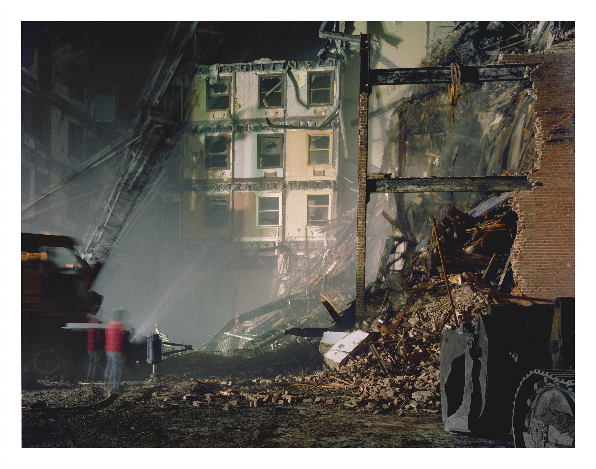 Night Deomolition of the Imperial Hotel, 4th at Minna Street, 1978 Archival Pigment Print, 2016 16 x 20 inches, edition of 5 20 x 24 inches, edition of 2 30 x 40 inches, edition of 2