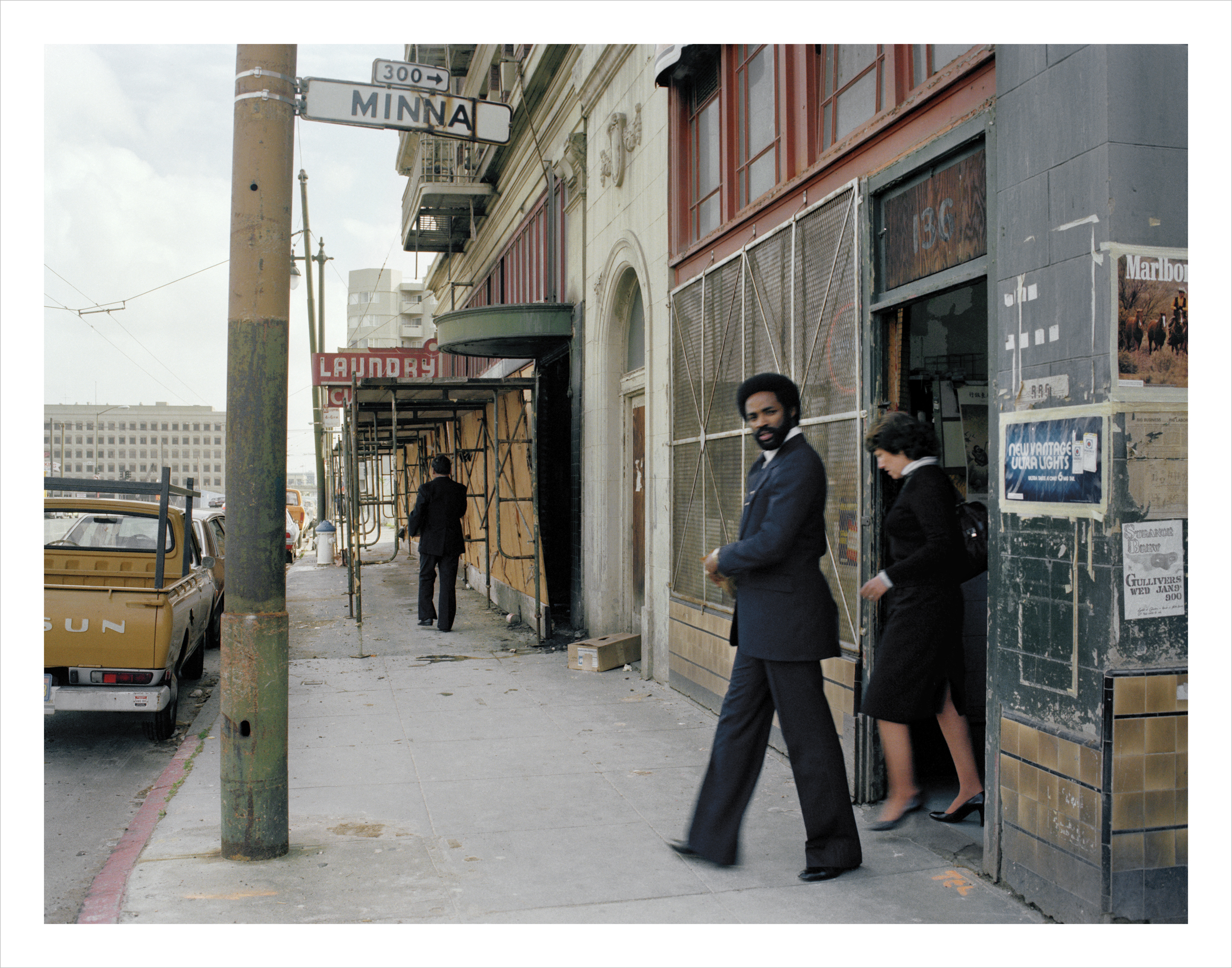 Office workers on lunch break near the site of the new convention center, 4th at Minna Street, 1979 Archival Pigment Print, 2016 16 x 20 inches, edition of 5 20 x 24 inches, edition of 2 30 x 40 inches, edition of 2