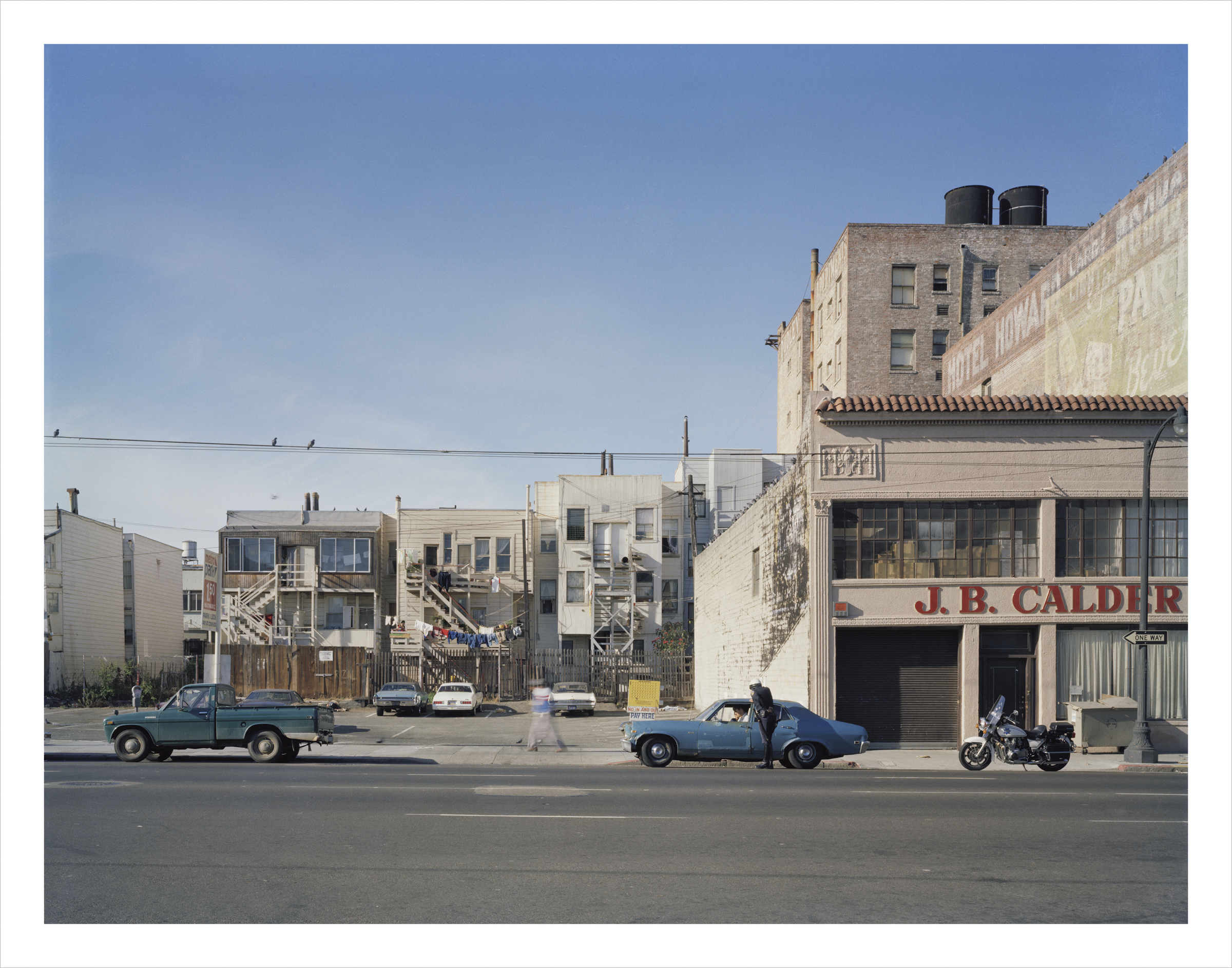 Policeman writing a ticket, Howard near 6th Street, 1980 Archival Pigment Print, 2016 16 x 20 inches, edition of 5 20 x 24 inches, edition of 2 30 x 40 inches, edition of 2