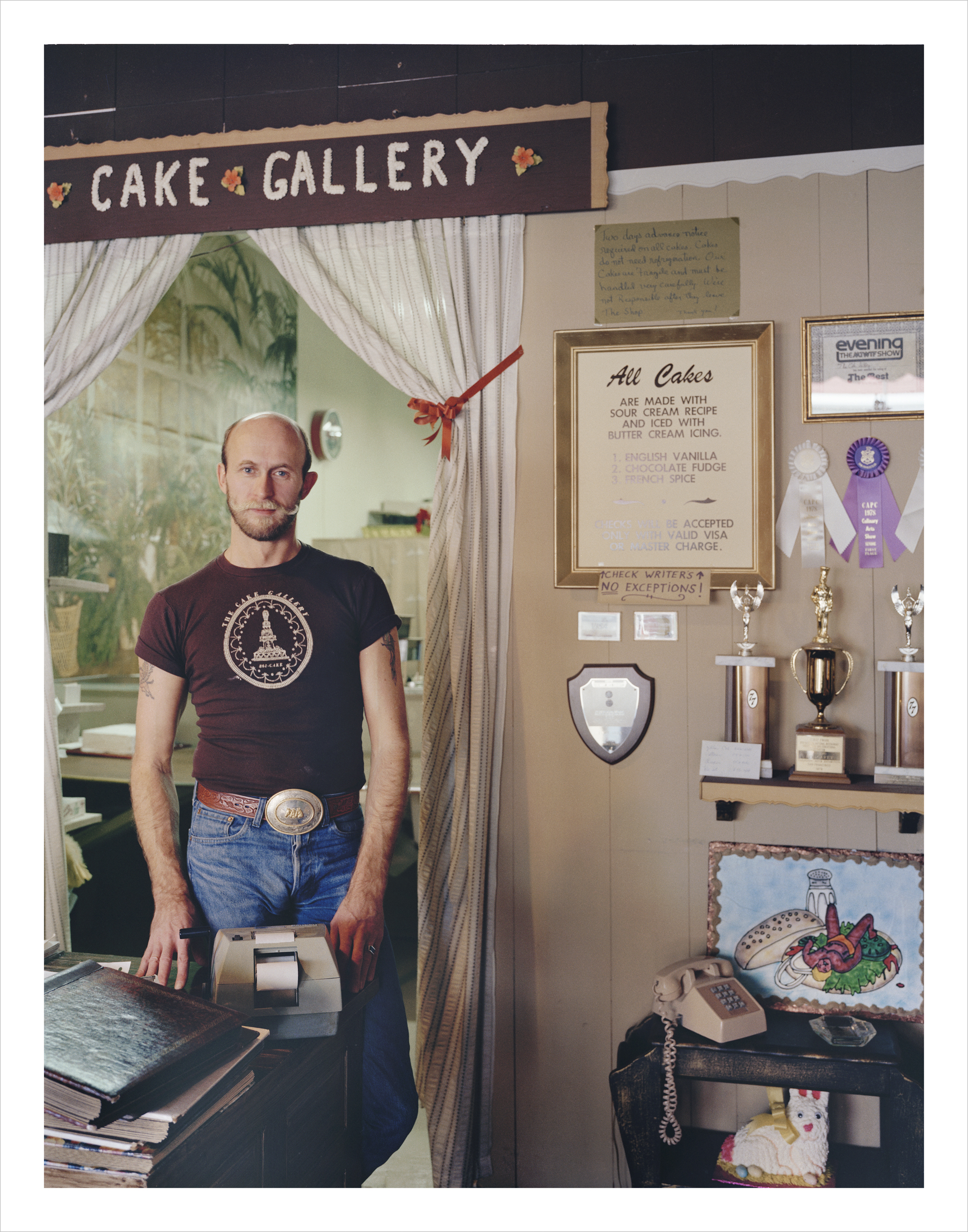 Ron Carney, owner, Cake Gallery, 290 9th Street, 1982 Archival Pigment Print, 2016 16 x 20 inches, edition of 5 20 x 24 inches, edition of 2 30 x 40 inches, edition of 2