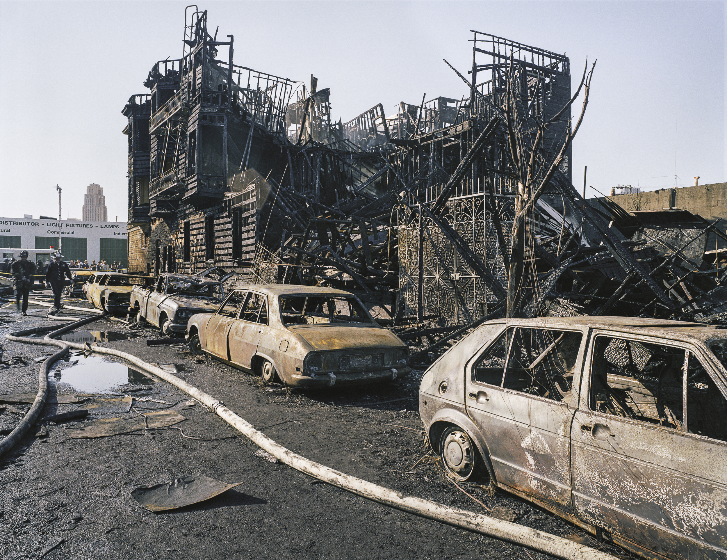 Remains of the July 10th five-alarm fire, Hallam Street, 1981 Archival Pigment Print, 2016 16 x 20 inches, edition of 5 20 x 24 inches, edition of 2 30 x 40 inches, edition of 2