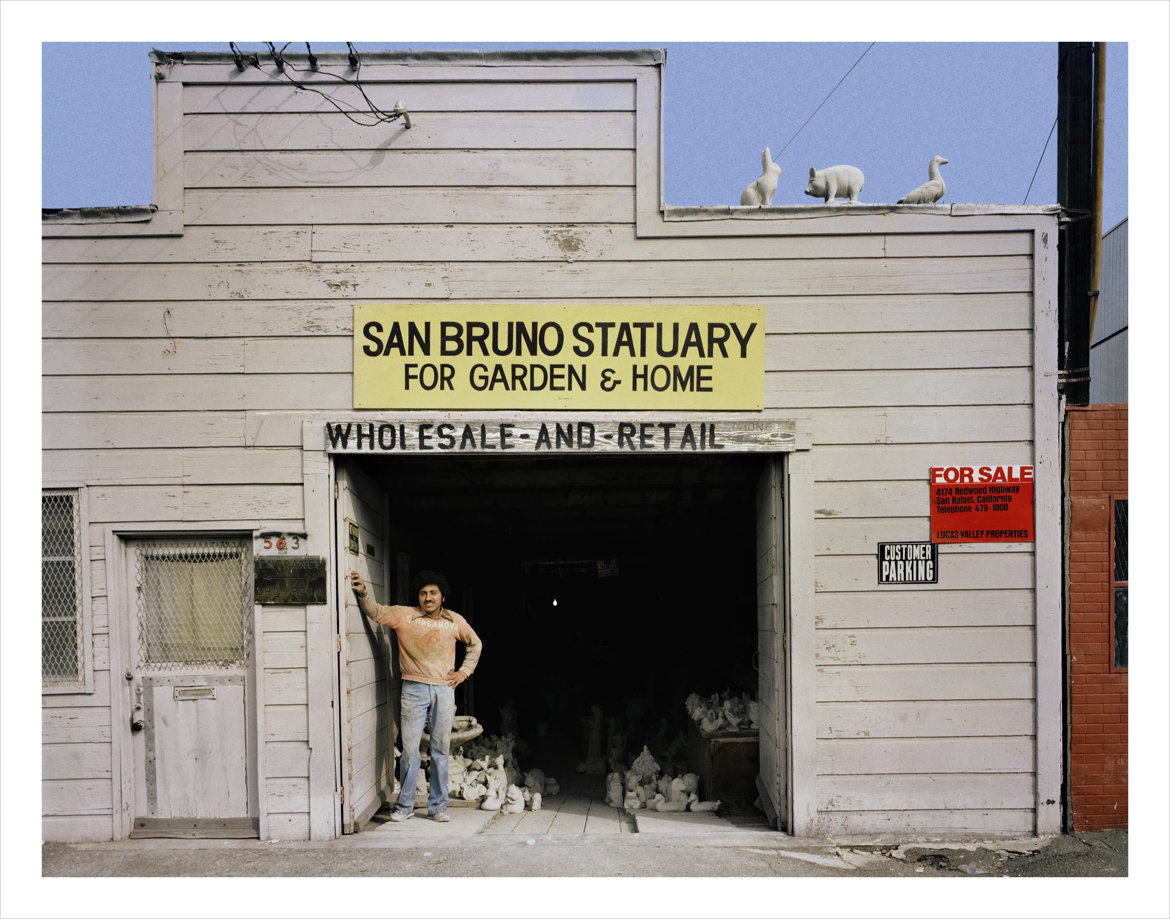 San Bruno Statuary, 563 6th Street, 1981 Archival Pigment Print, 2016 16 x 20 inches, edition of 5 20 x 24 inches, edition of 2 30 x 40 inches, edition of 2