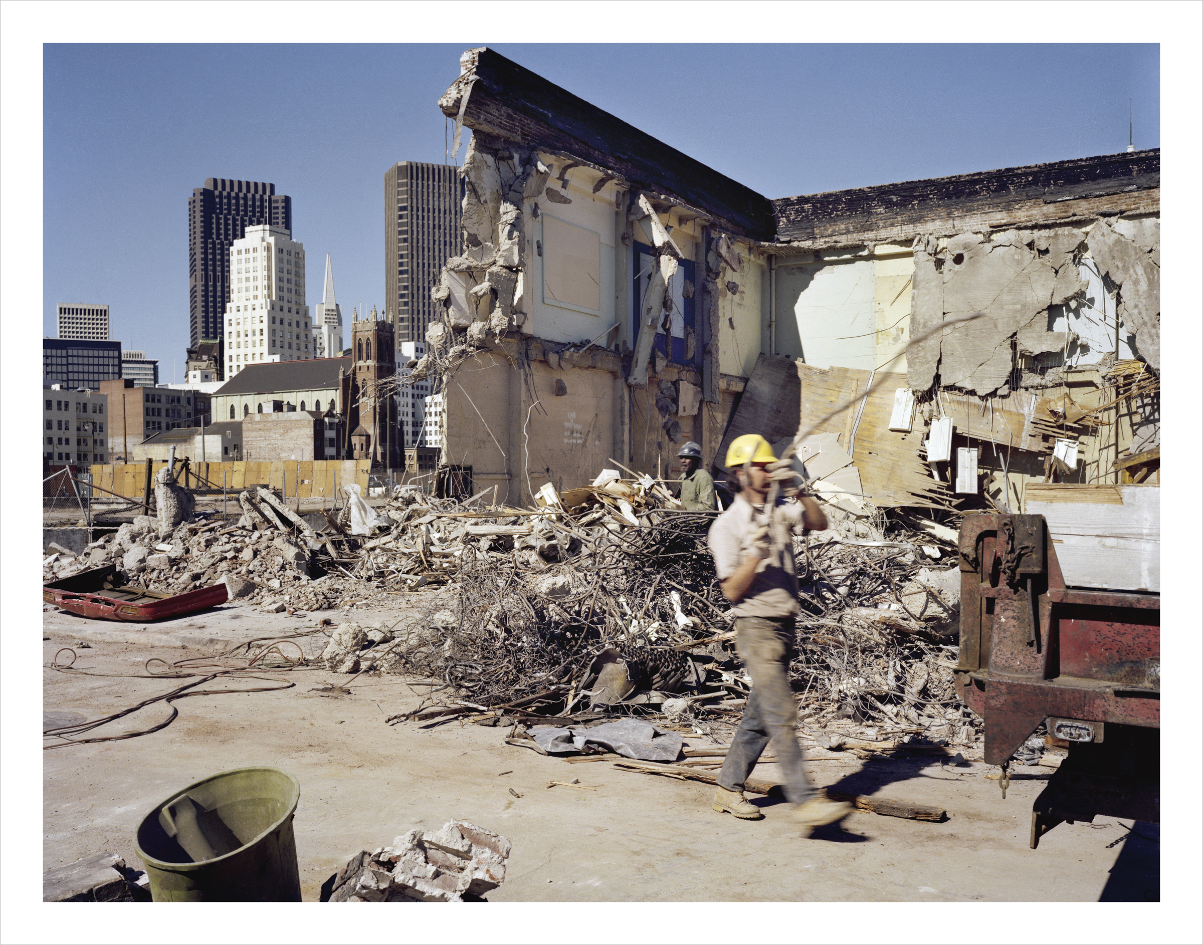 School Demolition, 4th at Howard Street, 1979 Archival Pigment Print, 2016 16 x 20 inches, edition of 5 20 x 24 inches, edition of 2 30 x 40 inches, edition of 2