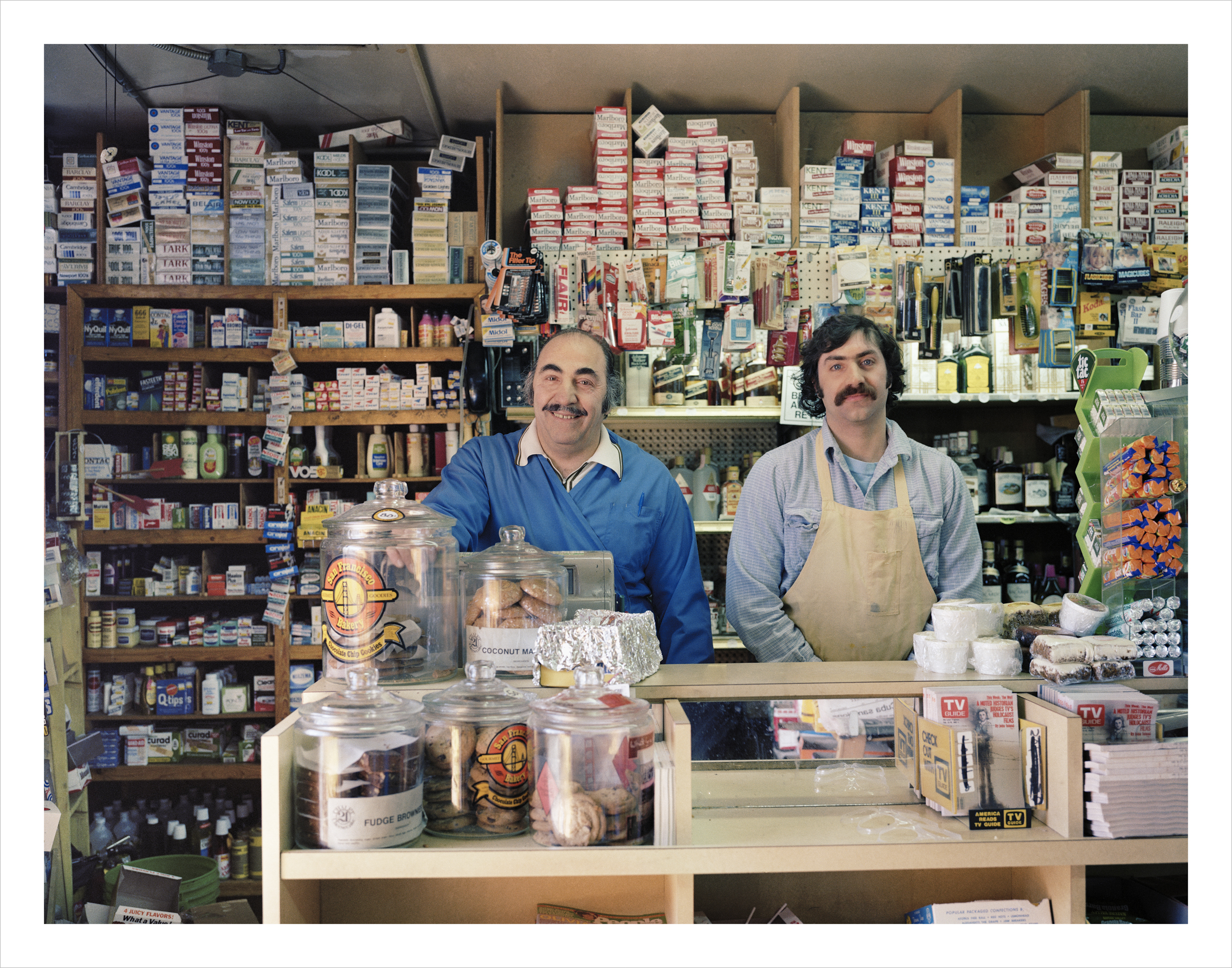 Ted Zouzounis and his son, David, at Ted's Market, 1530 Howard Street, 1982 Archival Pigment Print, 2016 16 x 20 inches, edition of 5 20 x 24 inches, edition of 2 30 x 40 inches, edition of 2