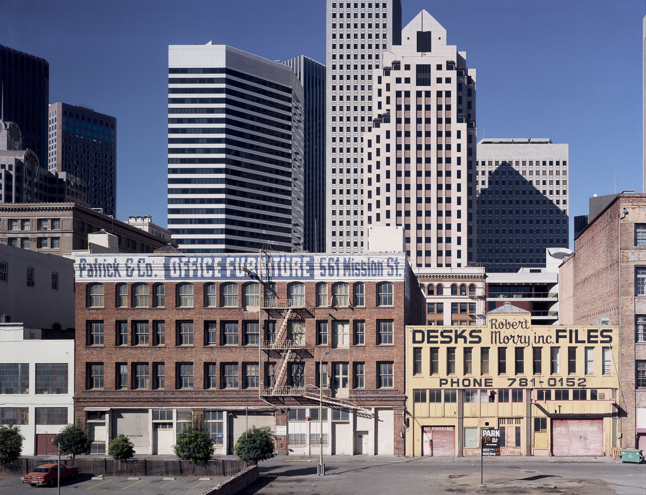 View of the Financial District from south of Market Street, 1980 Archival Pigment Print, 2016 16 x 20 inches, edition of 5 20 x 24 inches, edition of 2 30 x 40 inches, edition of 2