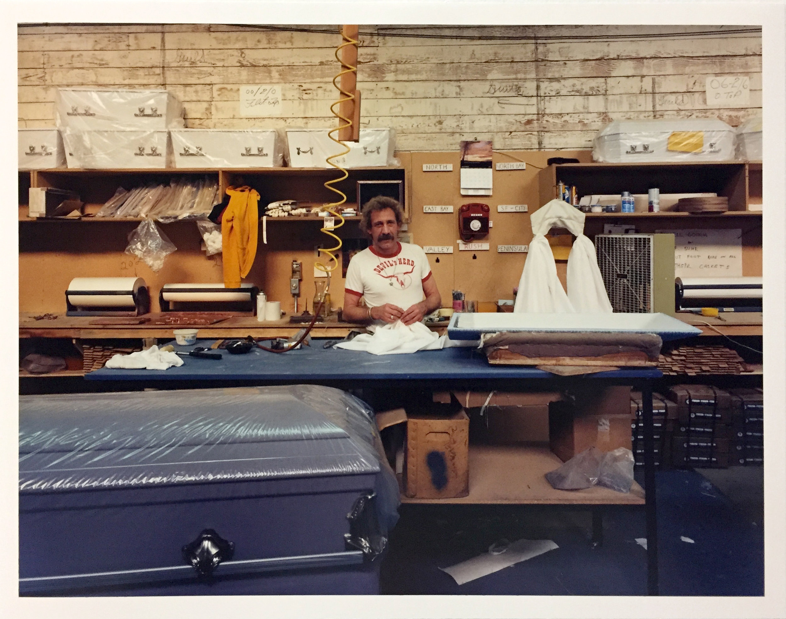 Harry Smith, Bay Casket Company, 1020 Folsom Street, 1980 Vintage Chromogenic Print 11 x 14 inches and 14 x 17 inches