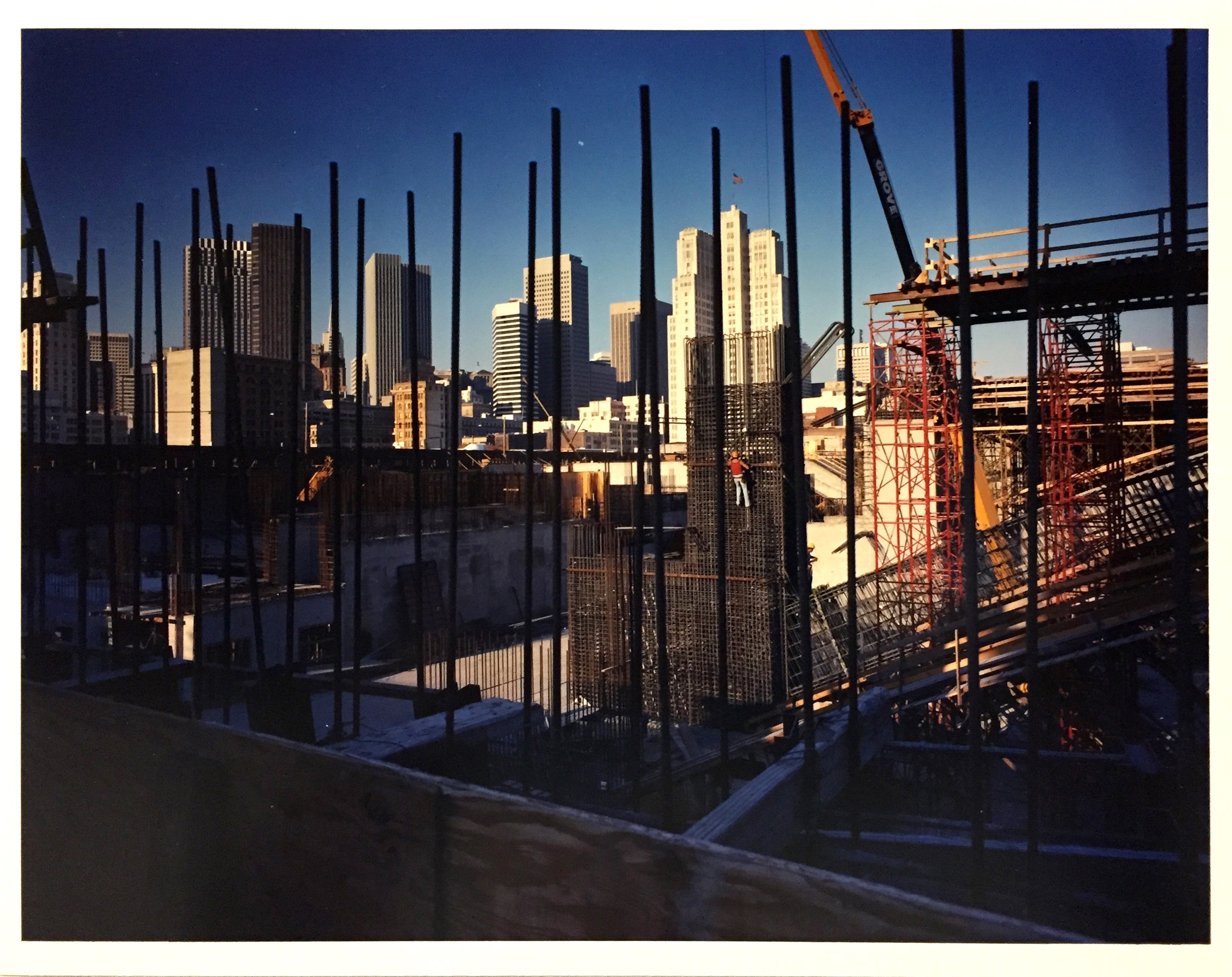 Moscone Center under construction, 1980 Vintage Chromogenic Print 11 x 14 inches and 16 x 20 inches