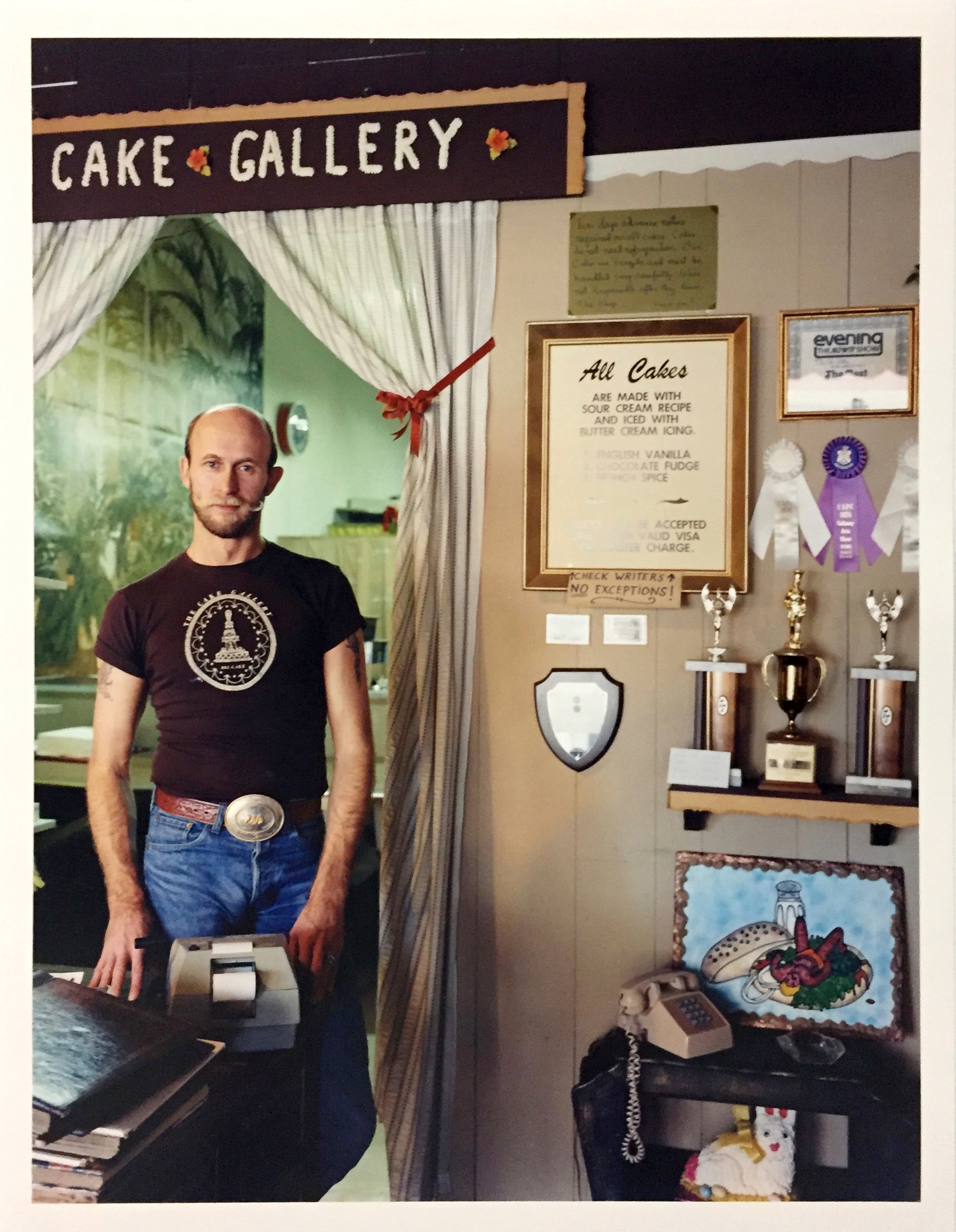 Ron Carney, owner, Cake Gallery, 290 9th Street, 1982 Vintage Chromogenic Print 11 x 14 inches