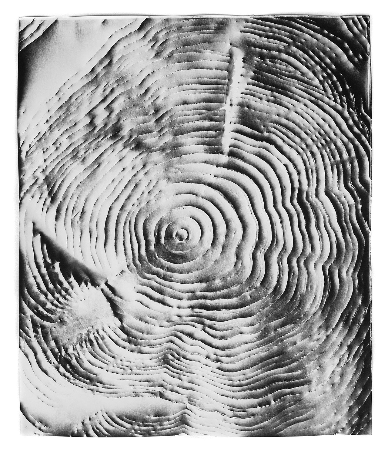 KLEA McKENNA  Automatic Earth 55,  2017 Photographic rubbing. Unique gelatin silver photogram. 24 x 20 inches