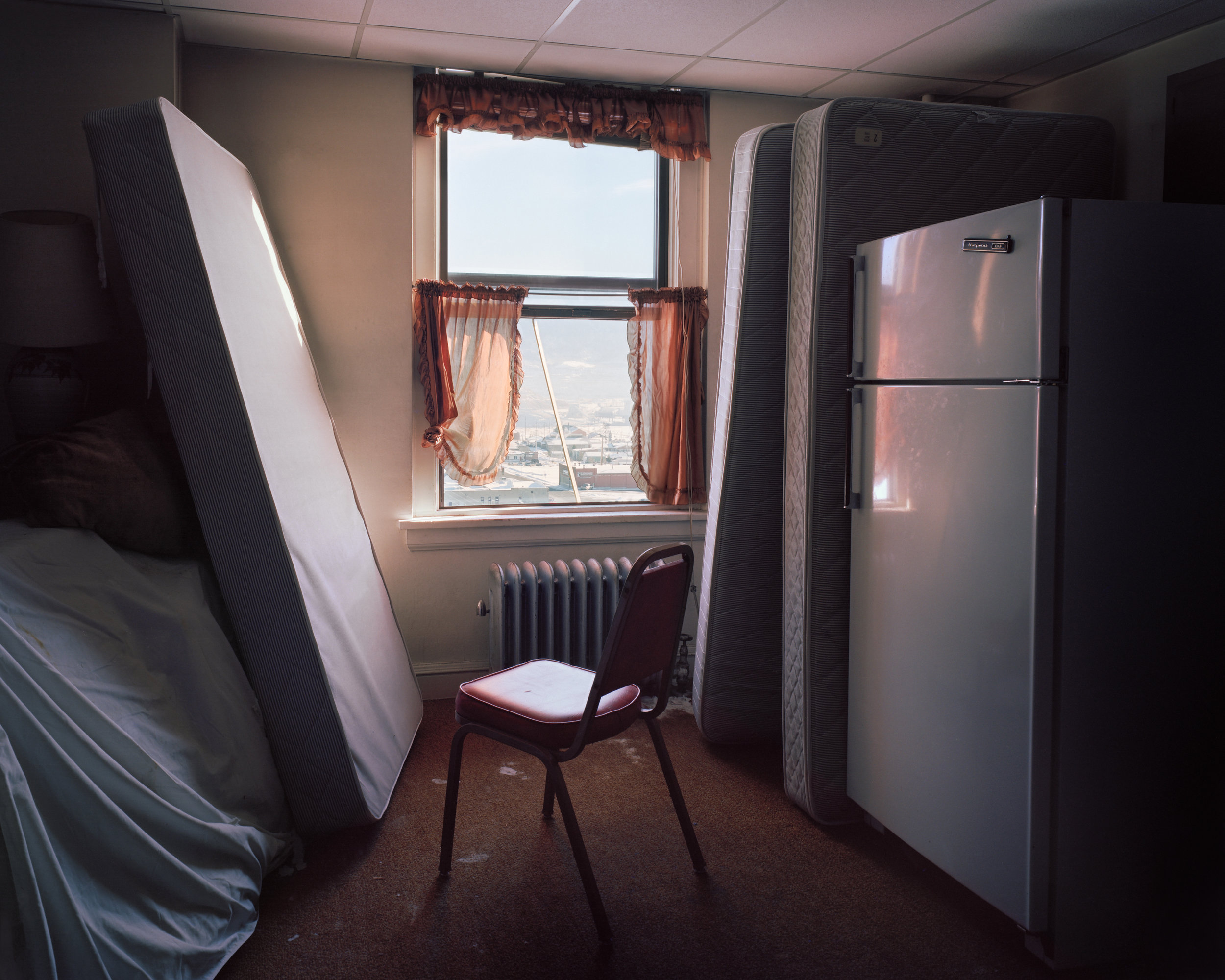 MCNAIR EVANS   Hotel Finlen, Room 621, 2017   Archival Pigment Print  AVAILABLE SIZES AND EDITIONS  20 x 25 in., ed. 5 + 1AP   32 x 40 in., ed. 5 + 1AP 40 x 50 in. ed. 3 + 1AP