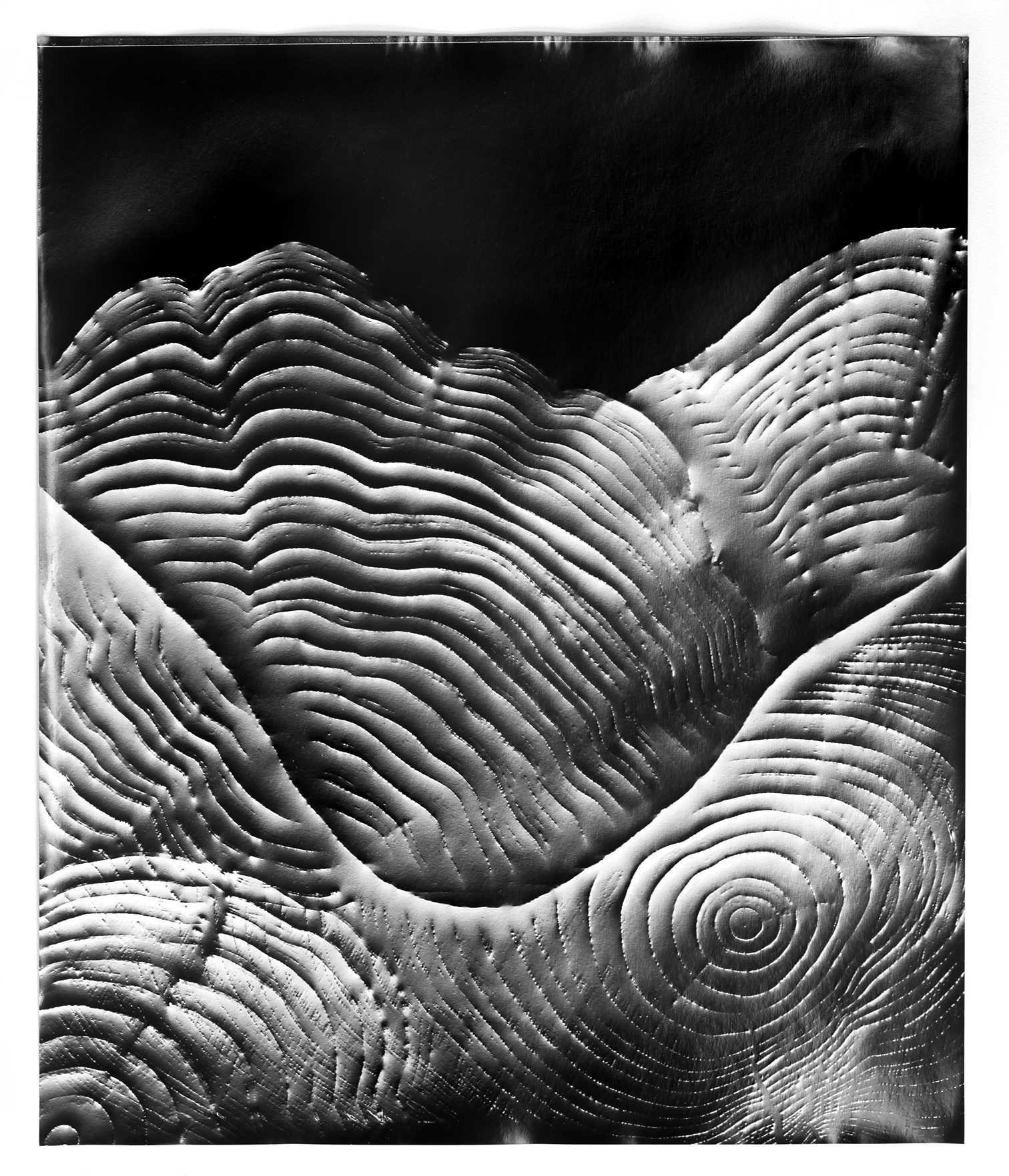 KLEA McKENNA Automatic Earth #75, 2017 Photographic rubbing. Unique gelatin silver photogram. 24 x 20 in.