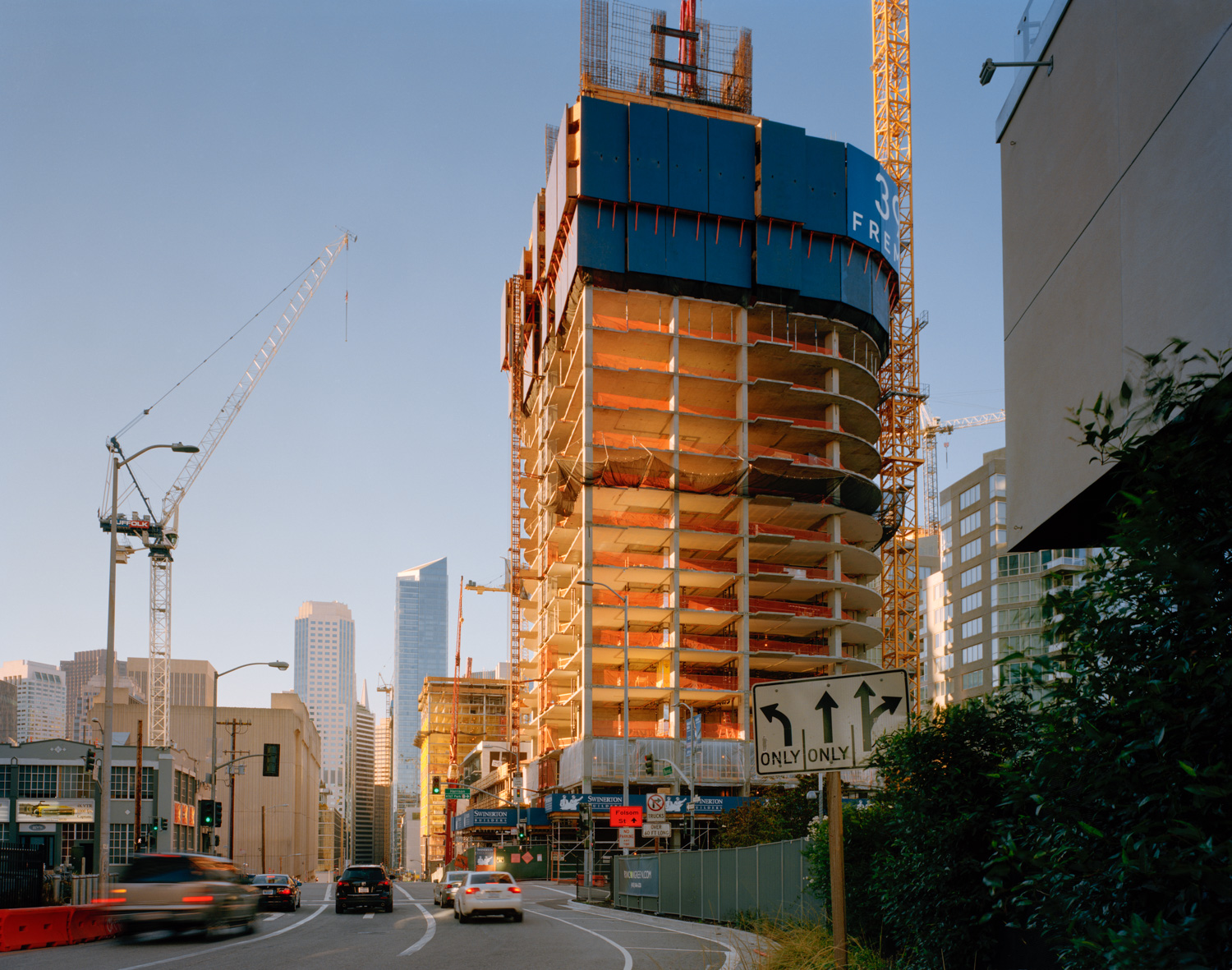 399 Fremont Under Construction,  2014   from  SoMA Now (2011 - ongoing)   Archival Pigment Print  Available sizes 16 x 20 inches, edition of 5 20 x 24 inches, edition of 2 30 x 40 inches, edition of 2