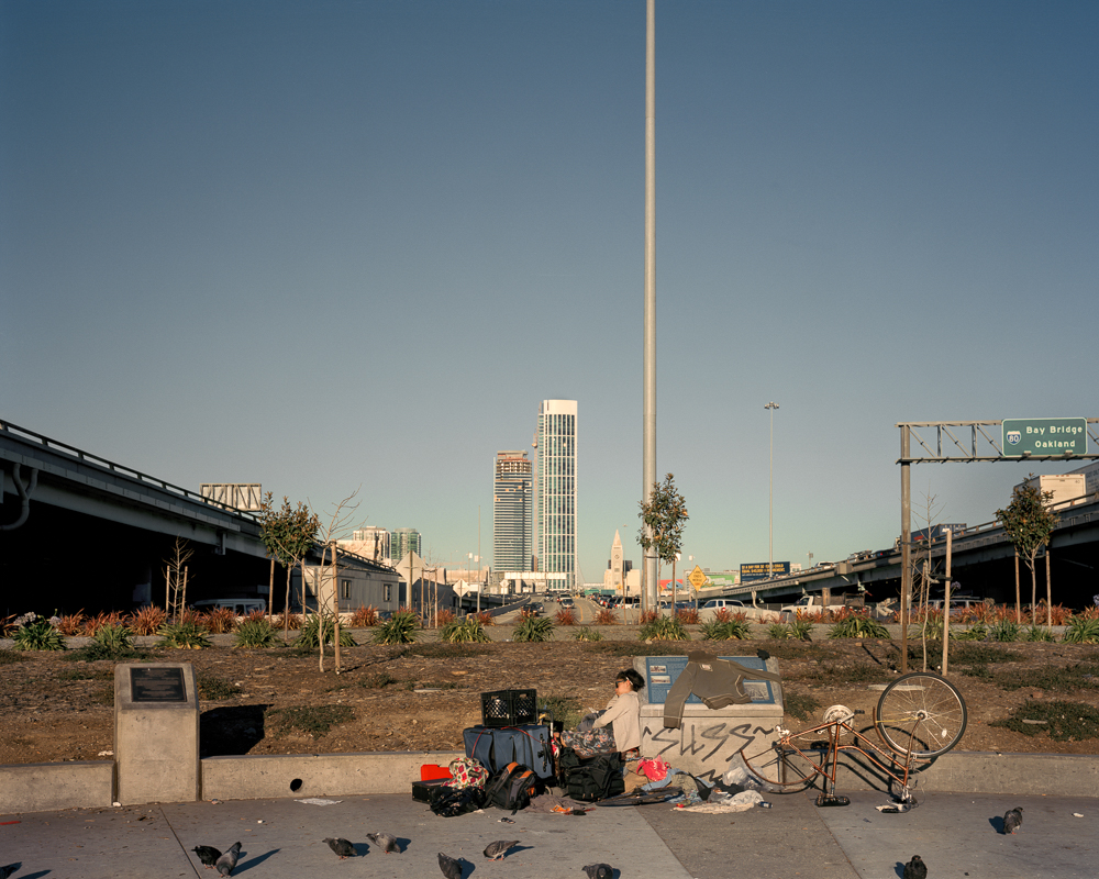 Homeless Camp, 5th Street between Harrison and Bryant,  2014   from  SoMA Now (2011 - ongoing)   Archival Pigment Print  Available sizes 16 x 20 inches, edition of 5 20 x 24 inches, edition of 2 30 x 40 inches, edition of 2