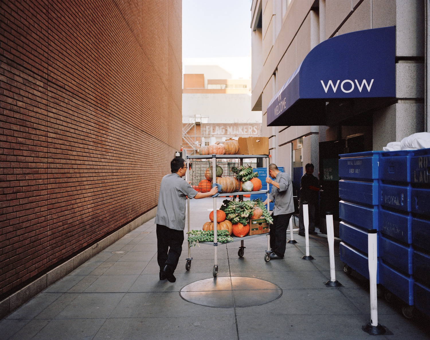 WOW, Natoma Alley at 3rd Street, 2013  from  SoMA Now (2011 - ongoing)   Archival Pigment Print  Available sizes 16 x 20 inches, edition of 5 20 x 24 inches, edition of 2 30 x 40 inches, edition of 2