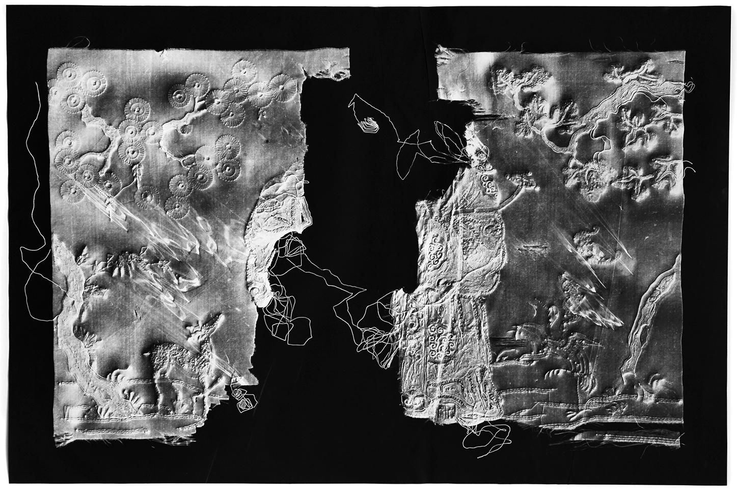 KLEA MCKENNA  Artifact #4,  2017 Photographic relief. Unique photogram on gelatin silver fiber paper. 26 x 39 inches