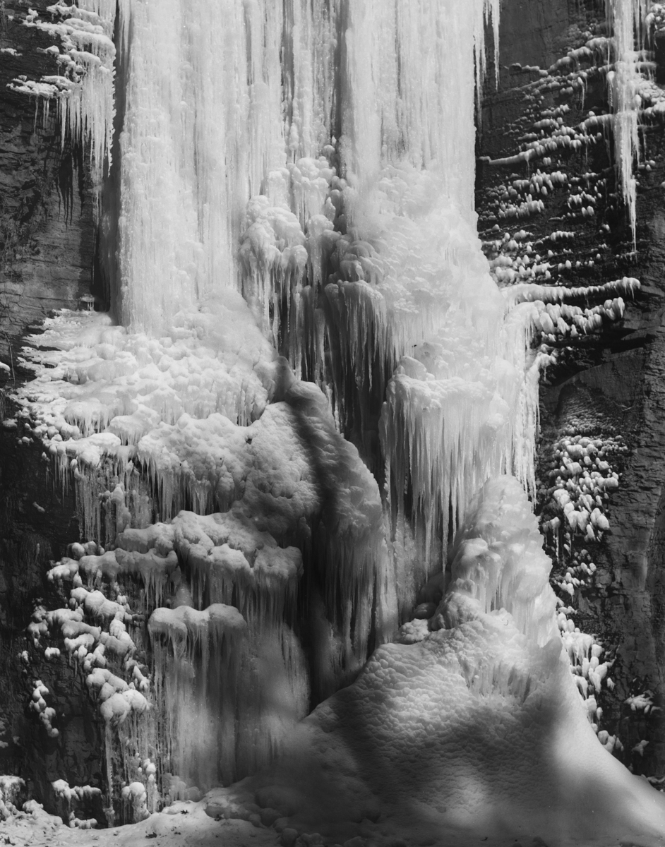 CHRISTINE ELFMAN  Frozen Waterfall , 2015 Silver gelatin print 37 x 29 inches Edition of 3 + 2AP