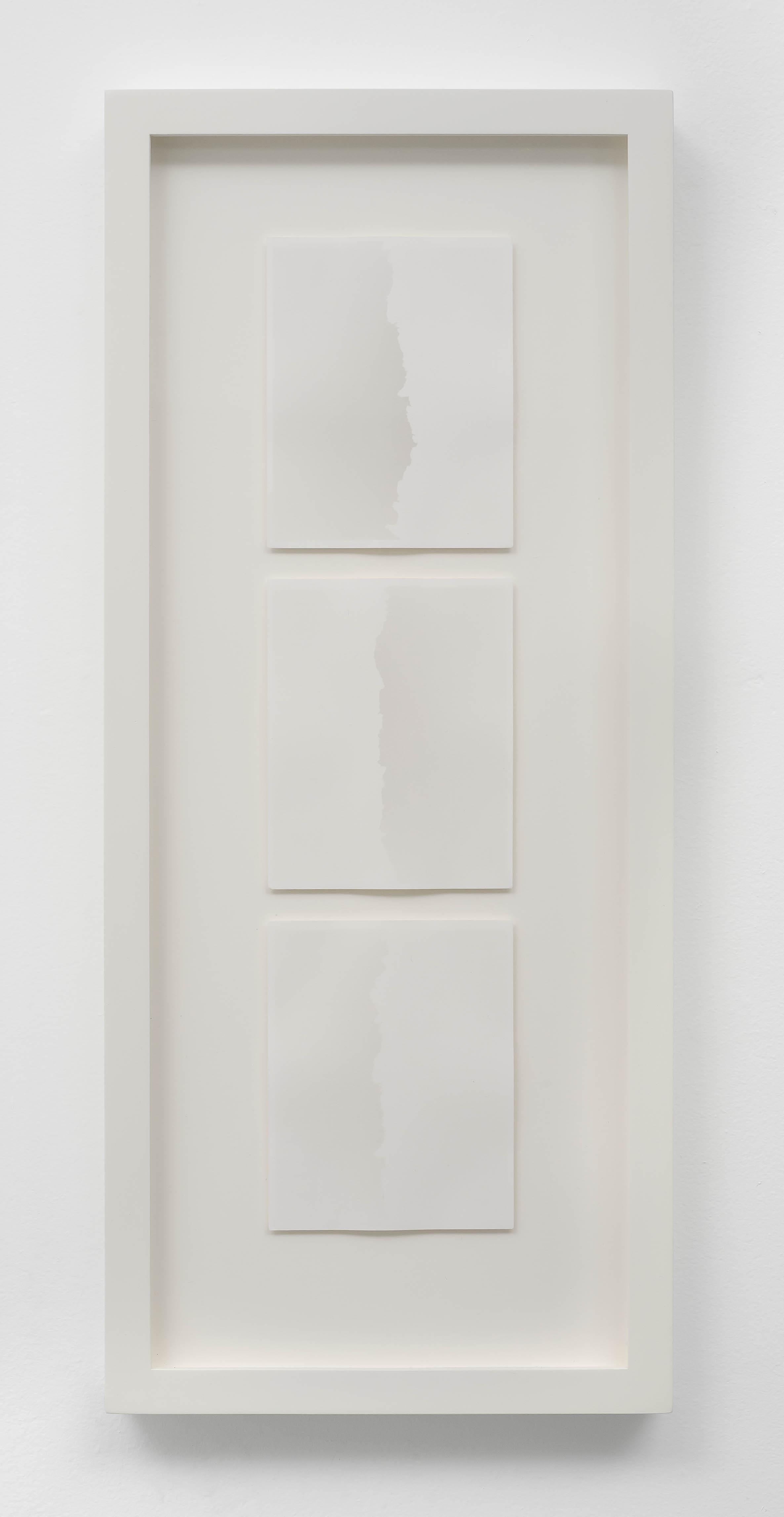 SCOTT B. DAVIS Lava, Pinacate, Mexico, 2018 Unique paper negative palladium/platinum prints, triptych 15 x 4 inches; frame: 21 x 9 inches