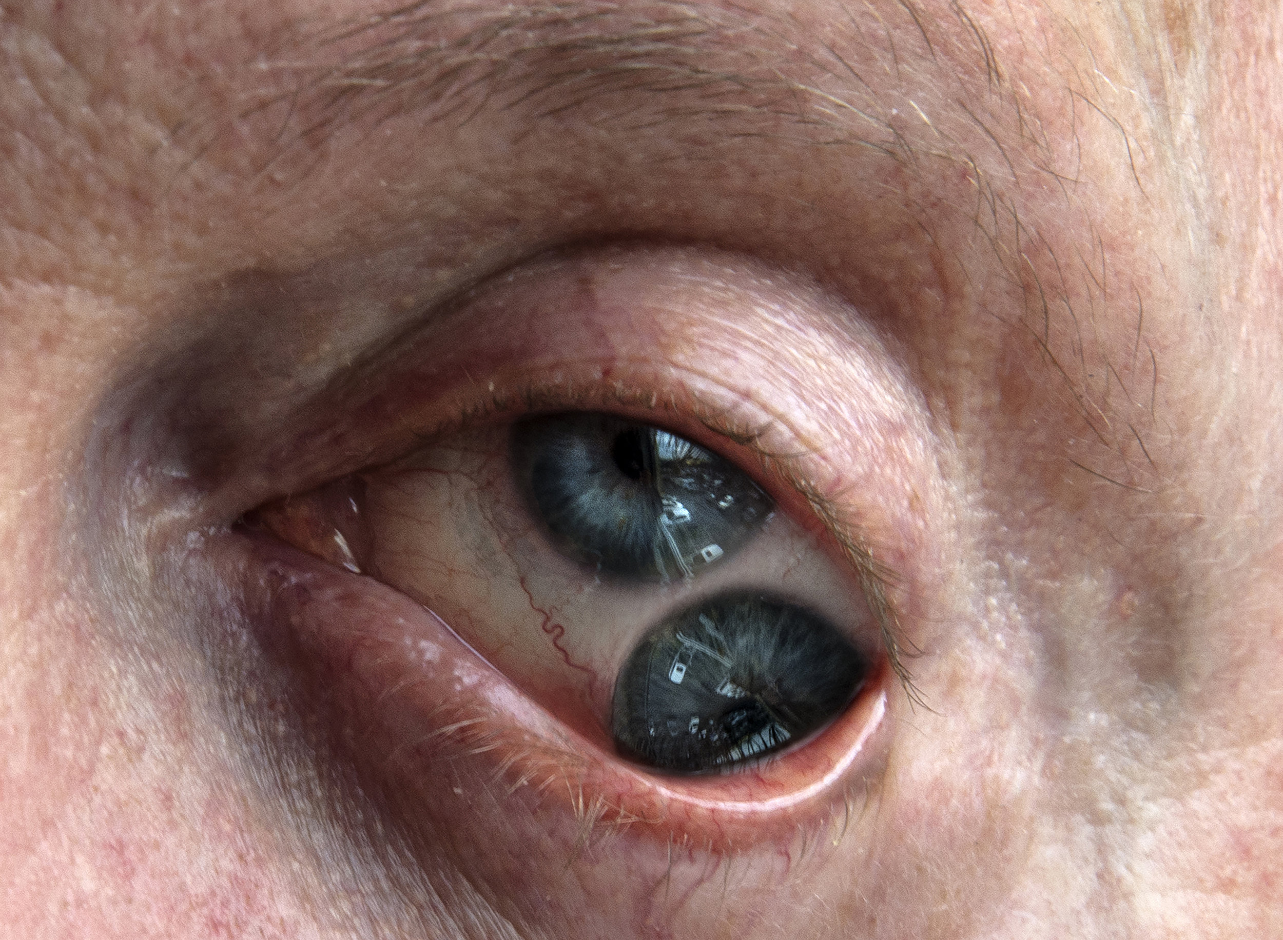 "LIZA AMBROSSIO  The Evil Eye / Mal de ojo,  ""The Rage of Devotion"" series, 2017, 14 x 19.5 inches, Digital print, Edition of 5"