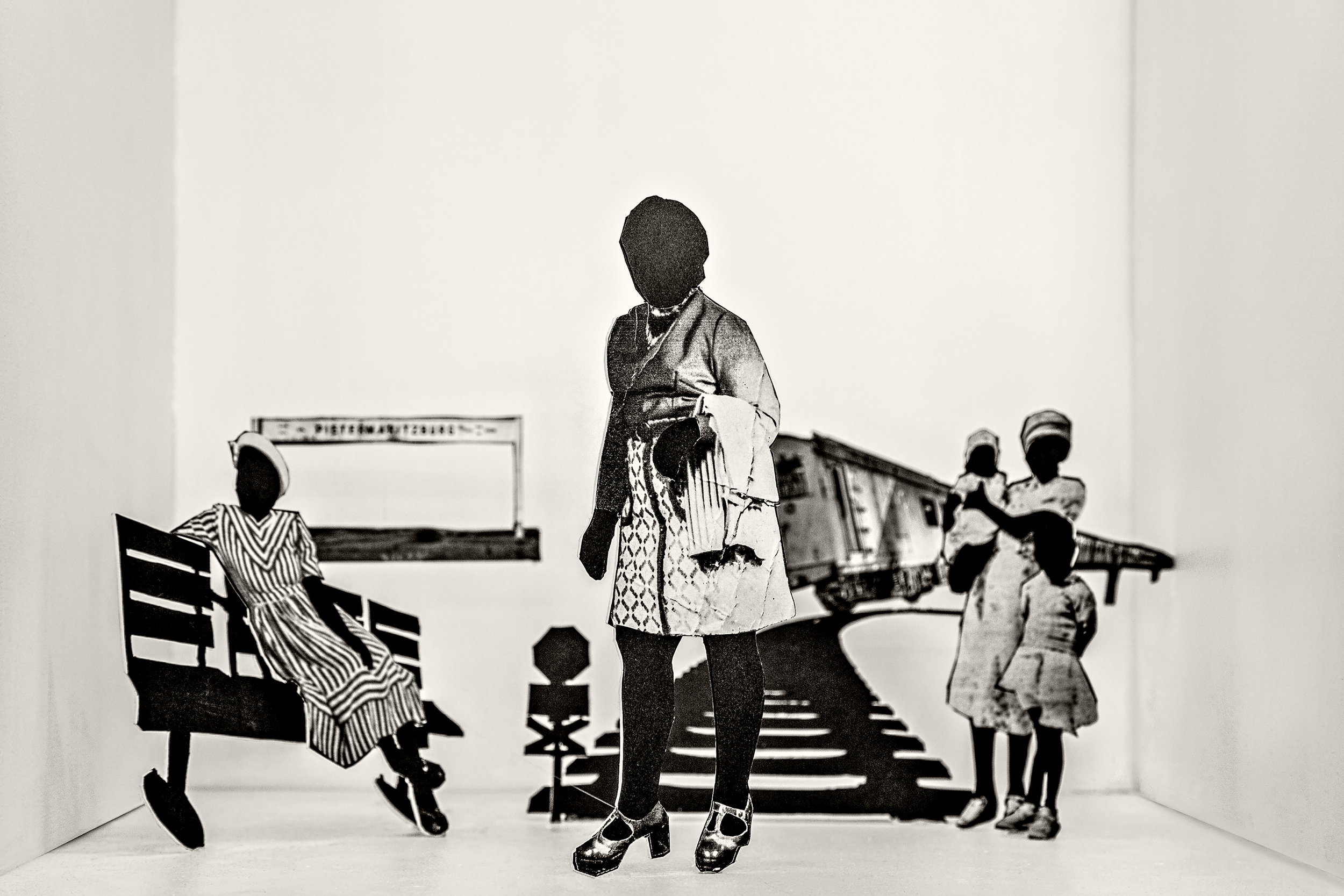 LEBOHANG KGANYE  You couldn't stop the train in time,  2018, Inspired by The train driver by Athol Fugard, Inkjet print on cotton rag paper, 25 x 35 inches; 64 x 90 cm, Edition 3/5 Courtesy AFRONOVA GALLERY