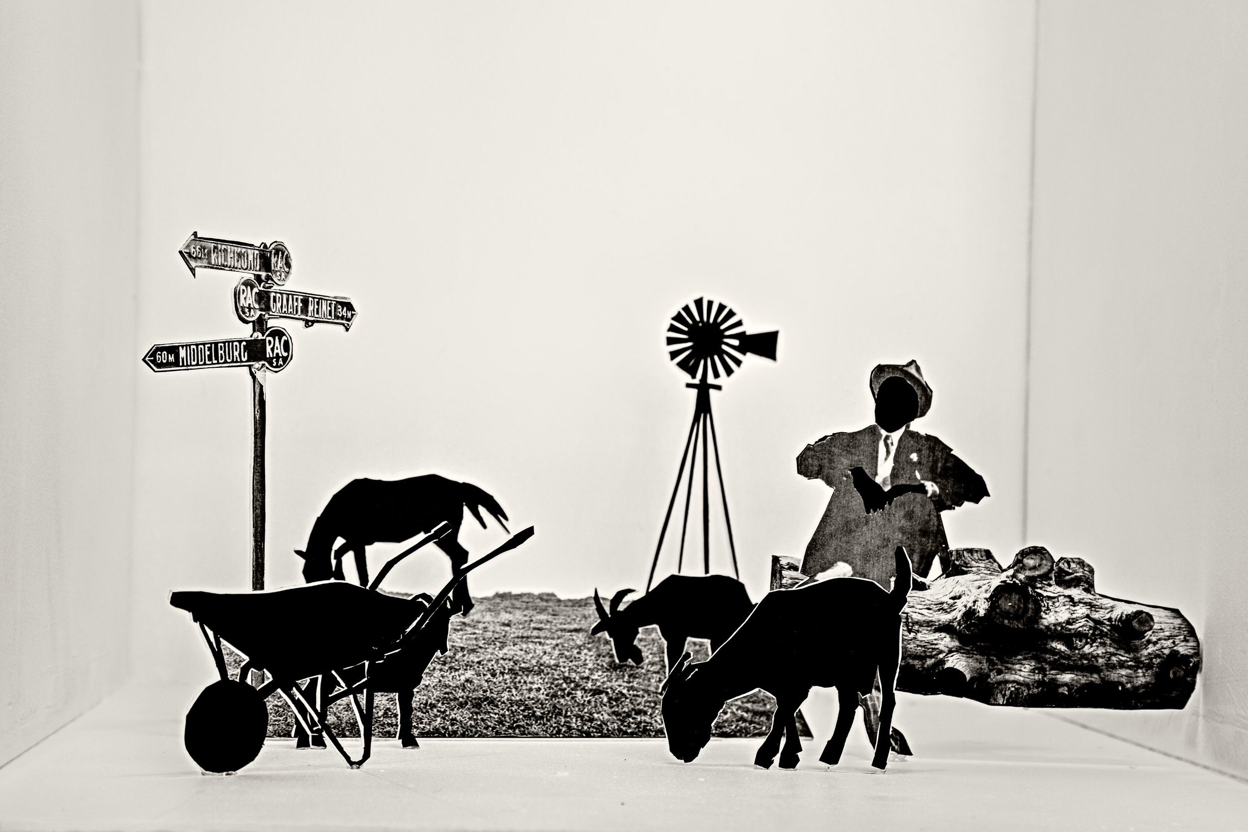LEBOHANG KGANYE  Helen's father grazing his goats , 2018, Inspired by Maverick by Lauren Beukes and Nechama Brodie, Inkjet print on cotton rag paper, 25 x 35 inches; 64 x 90 cm, Edition 3/5 Courtesy AFRONOVA GALLERY