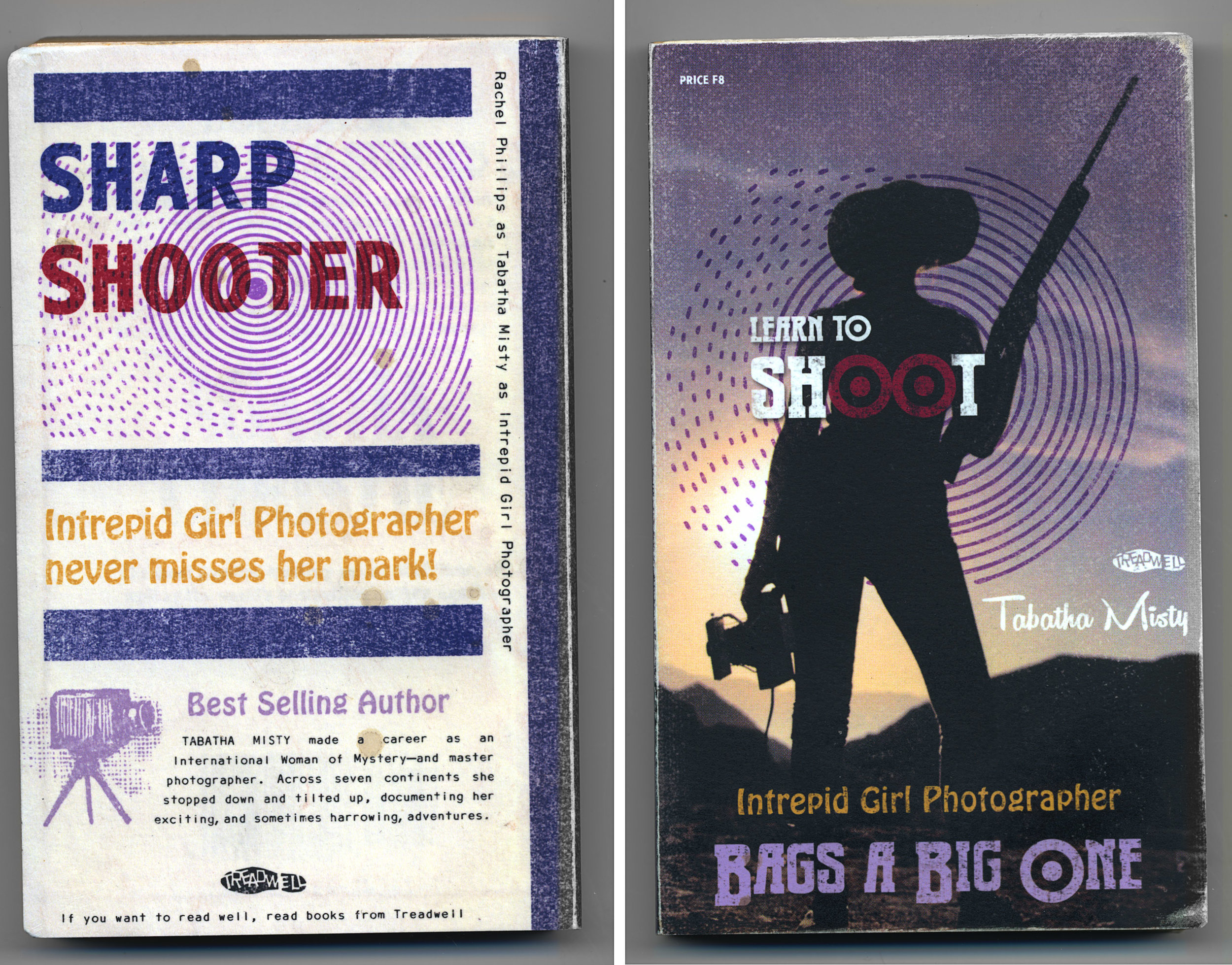 RACHEL PHILLIPS  Learn to Shoot,  2019 from  Intrepid Girl Photographer  Archival pigment print cover around vintage paperback 7 x 4.25 x .5 inches Edition Varée of 5 + 1AP