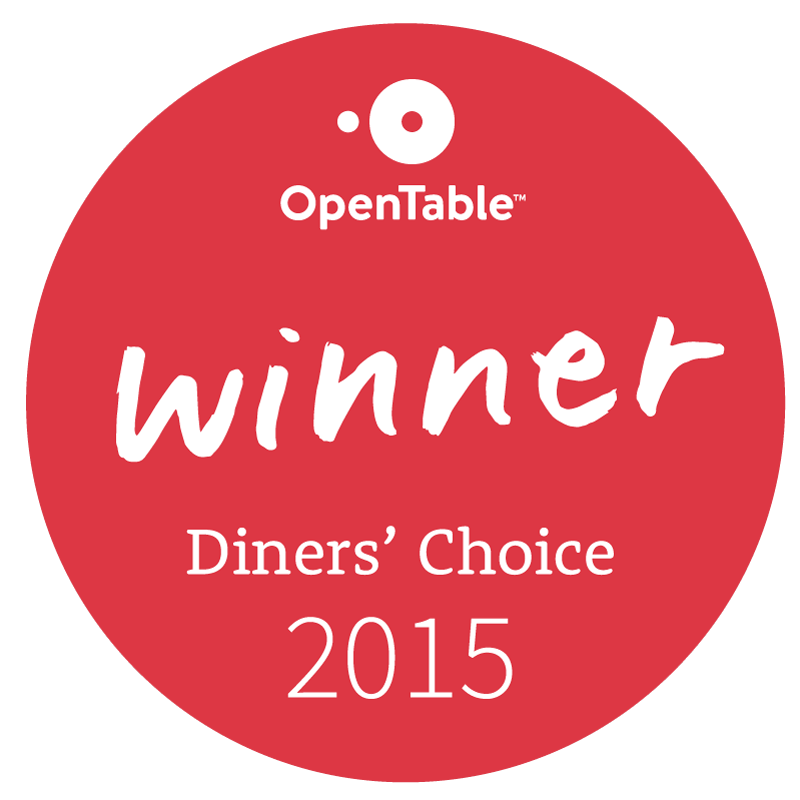 2015 Diner's Choice Winner