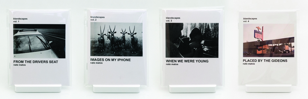 blandscapes photo zine volumes 1 - 4, currently offered through 4341 PRESS as part of an ongoing, open edition series.