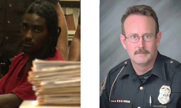 Major P. Davis II and Officer Perry Renn;  Photo: fox59.com