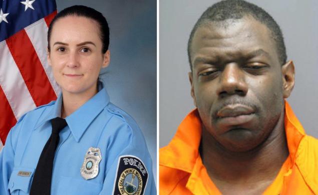 Officer Guindon and Ronald Hamilton;  Photo: nydailynews.com