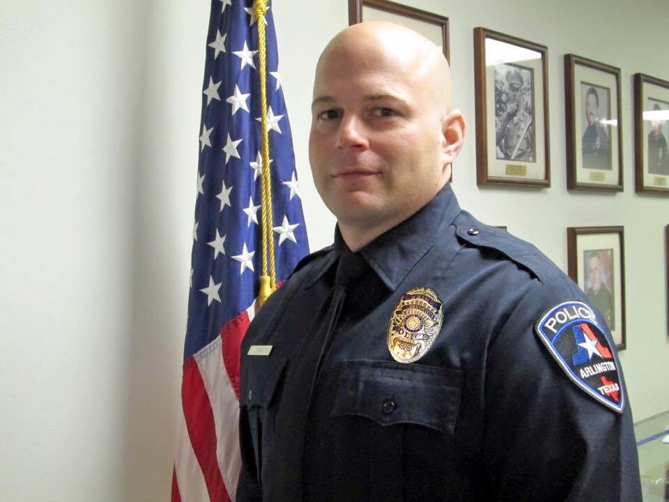 Officer Edward Johnston;  Photo: Arlington Police