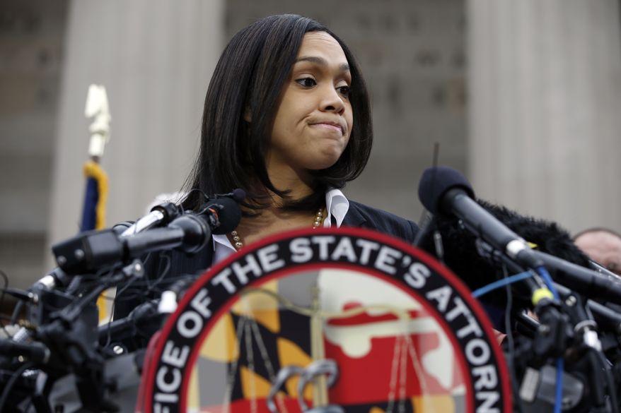 State's Attorney Marilyn Mosby;  Photo: Alex Brandon via washingtontimes.com