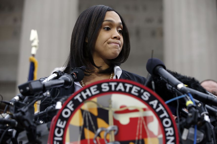 Marilyn Mosby;  Photo: Alex Brandon via washingtontimes.com