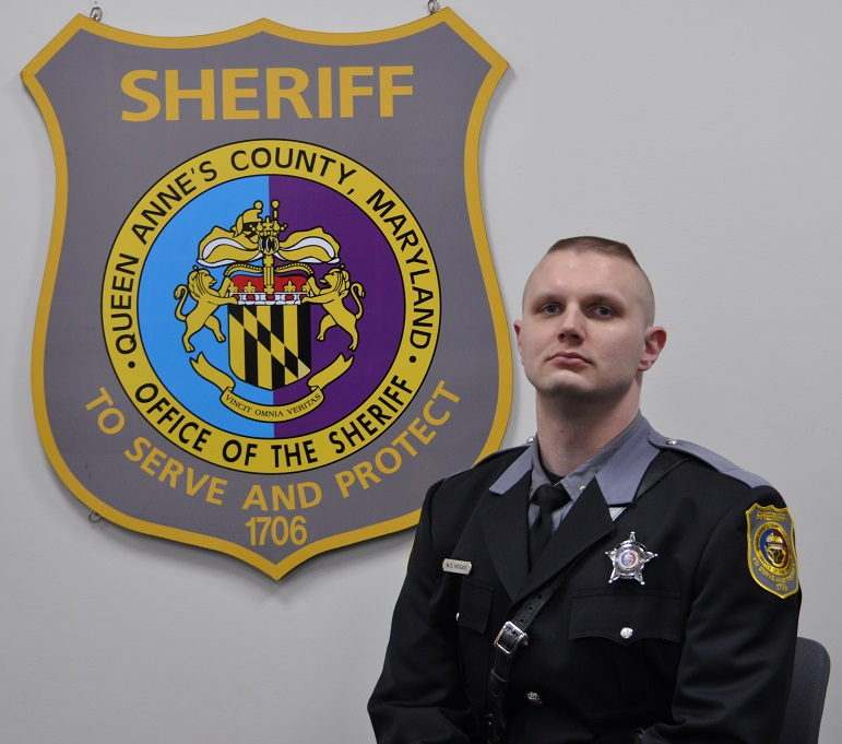 Deputy Warren Hogan;  Photo: Queen Anne's County Sheriff's Dept.