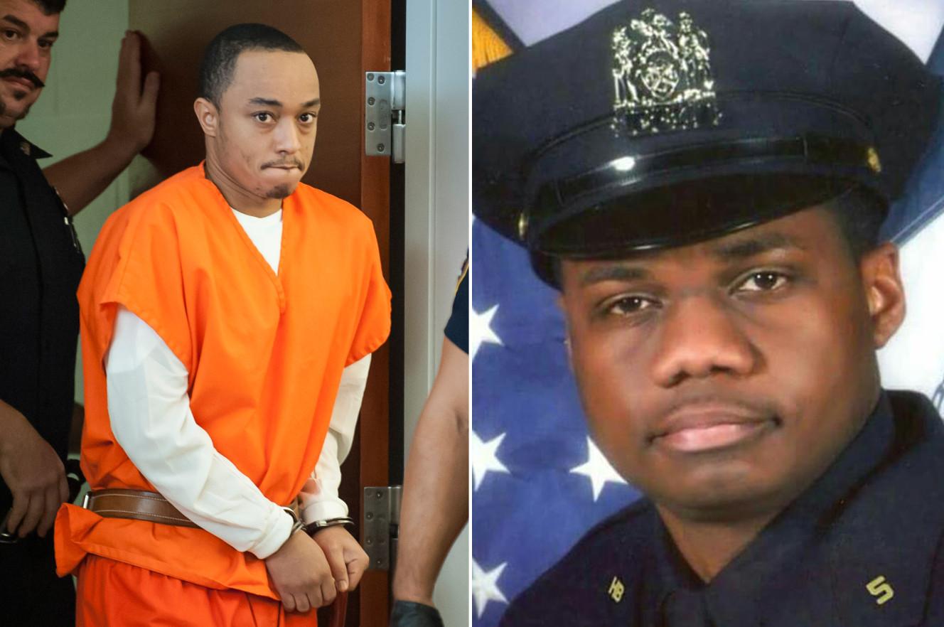 Cop-killer Tyrone Howard (l); Officer Randolph Holder (r);  Photo: David McGlynn via nypost.com