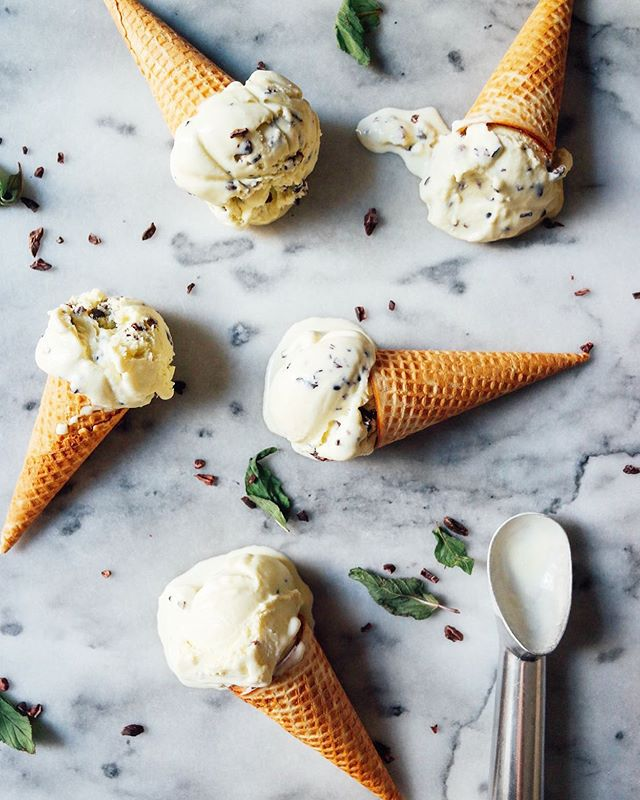 I couldn't forget national ice cream day! 🍦 It's one of my favorite food groups. 🤪 This mint chip ice cream with cacao nib is in the blog archives. #nationalicecreamday #icecream
