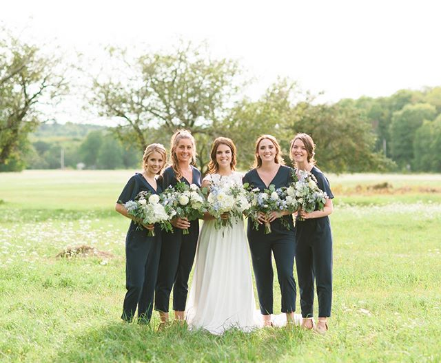 Current obsession: bridesmaids in jumpsuits 😎 Previews from @jillstade & @talonstade's gorgeous barn wedding @thebarnatsadiebellefarm are now on the blog! Link in bio ☝️ . . . #halifax #chasinglight #halifaxweddingphotographer #darlingweekend #weddinginspo #halifaxweddingphotographers #halifaxphotographer #weddingphotography #halifaxweddings #shesaidyes #postthepeople #brideandgroom #weddingstyle #weddingplanning #soloverly #weddingwire #ohwowyes #weddingportraits #weddingideas #pursuepretty #portraitkillers #weddingdress #theknot #weddingflowers #risingtidesociety #weddingchicks #flashesofdelight #countrywedding #destinationweddingphotographer #petitejoys